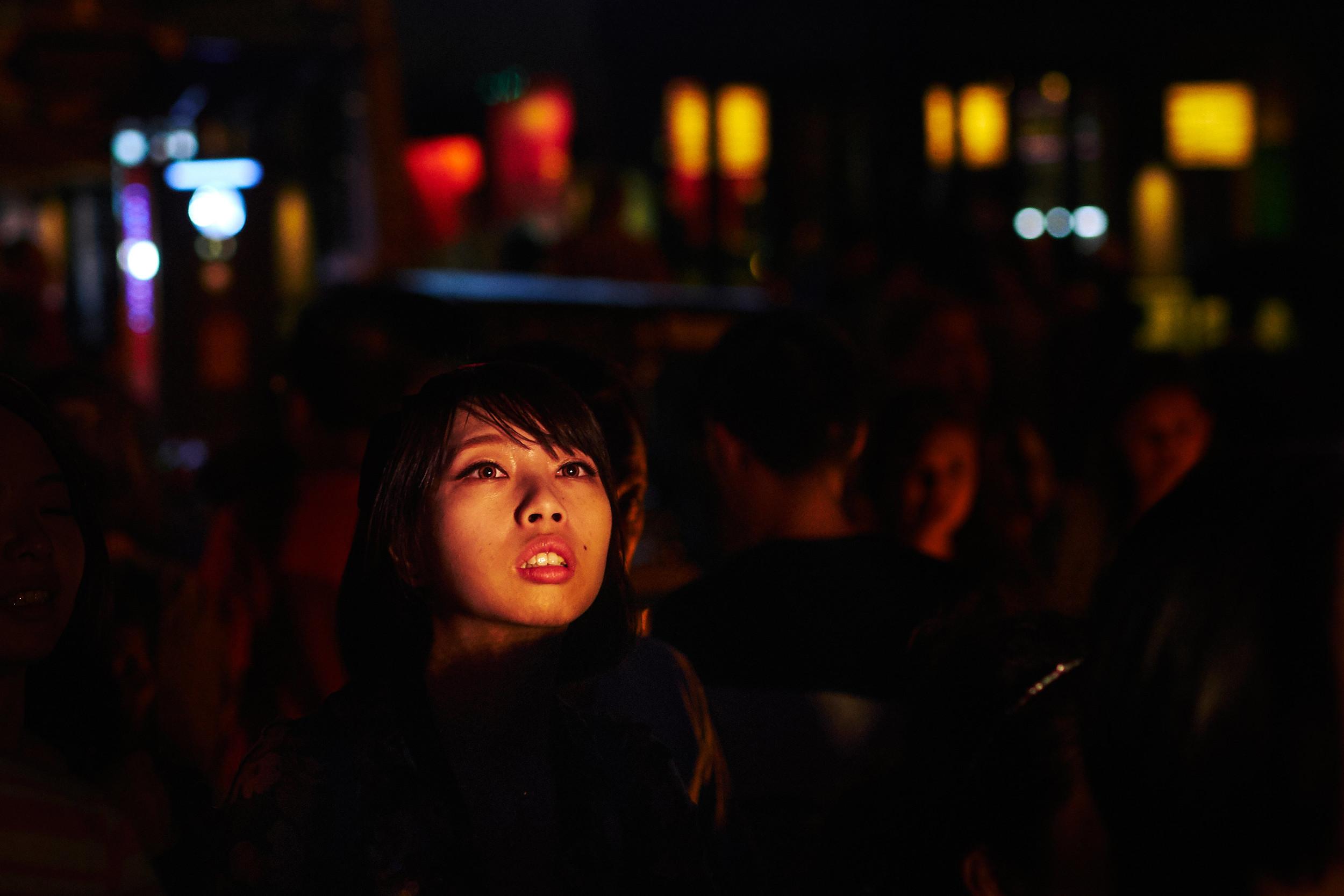 Girl at the flower festival Chiang Mai