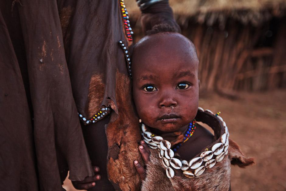 Portrait of a Hamer child