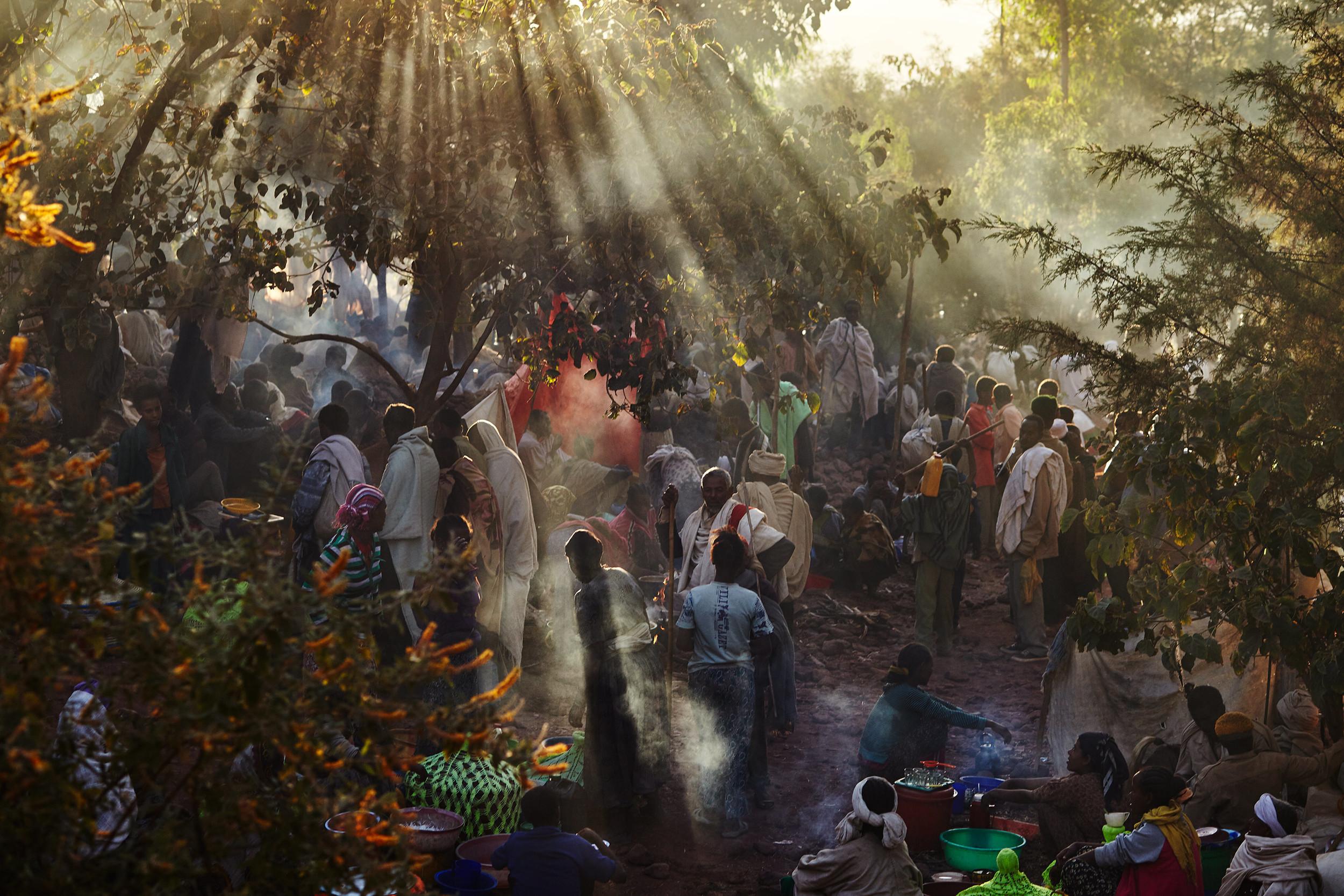 Pilgrims in Lalibela Ethiopia