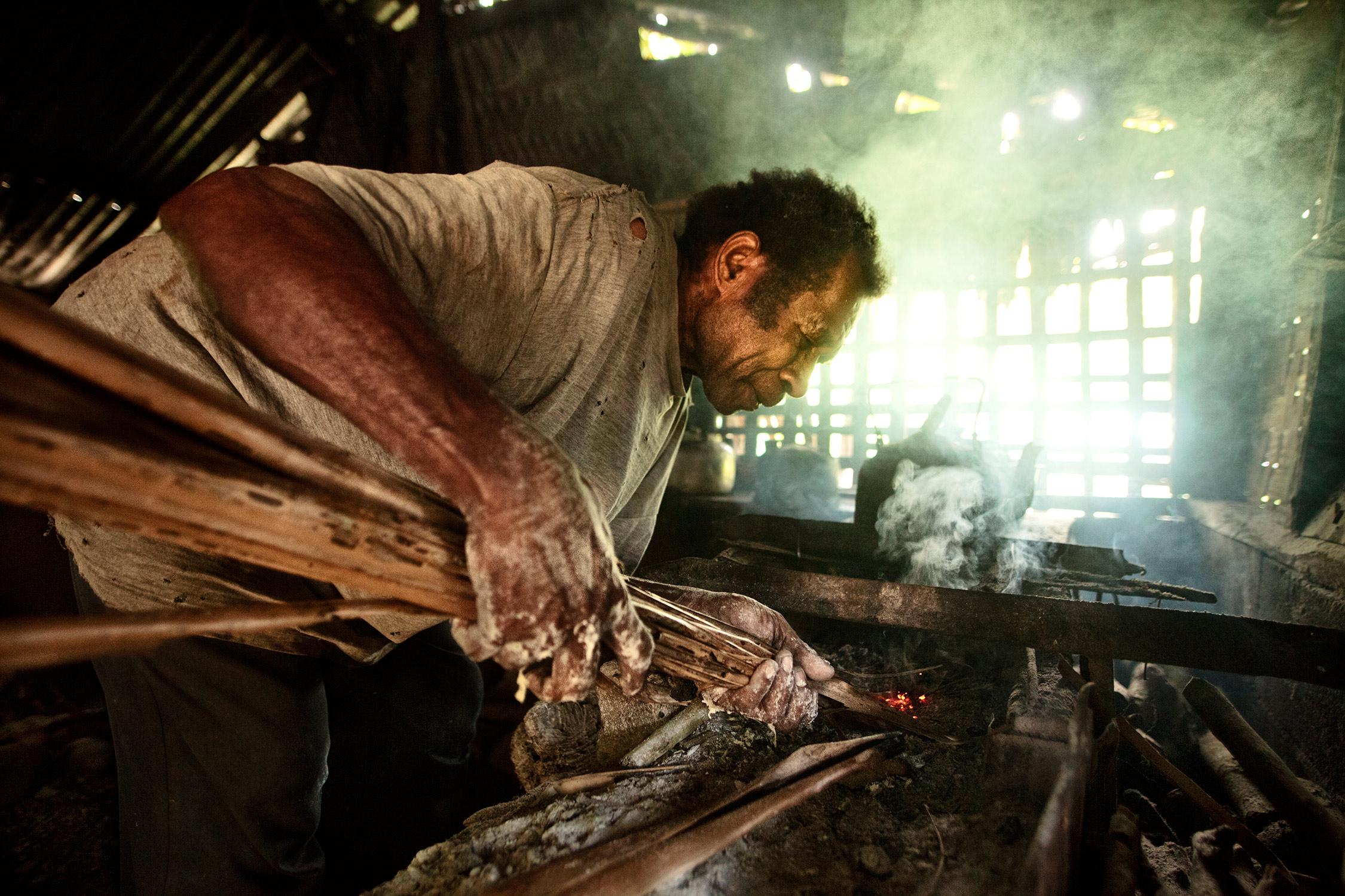 Village baker in South West Bay Vanuatu