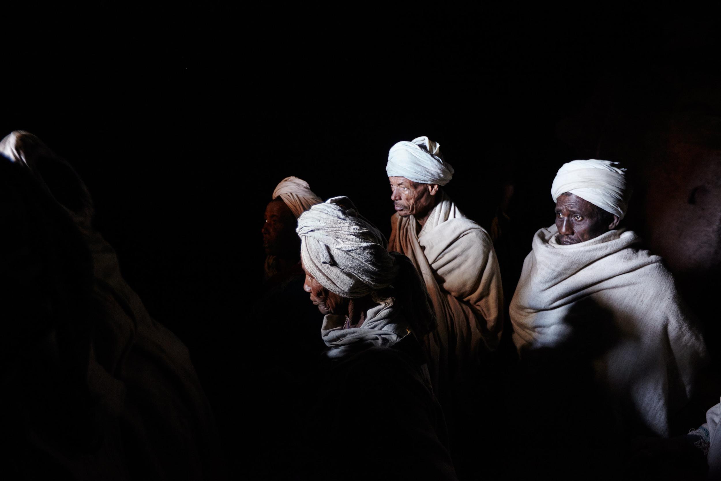 Orthodox Christian pilgrims in Lalibela