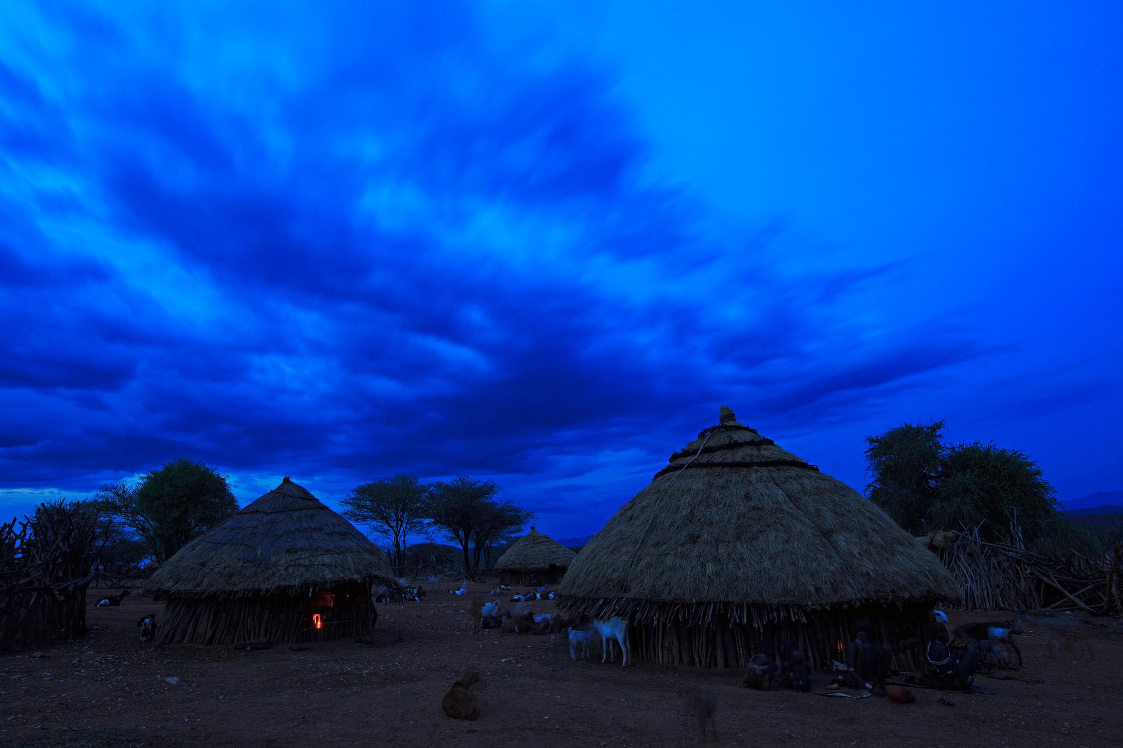 Hamer village at twilight