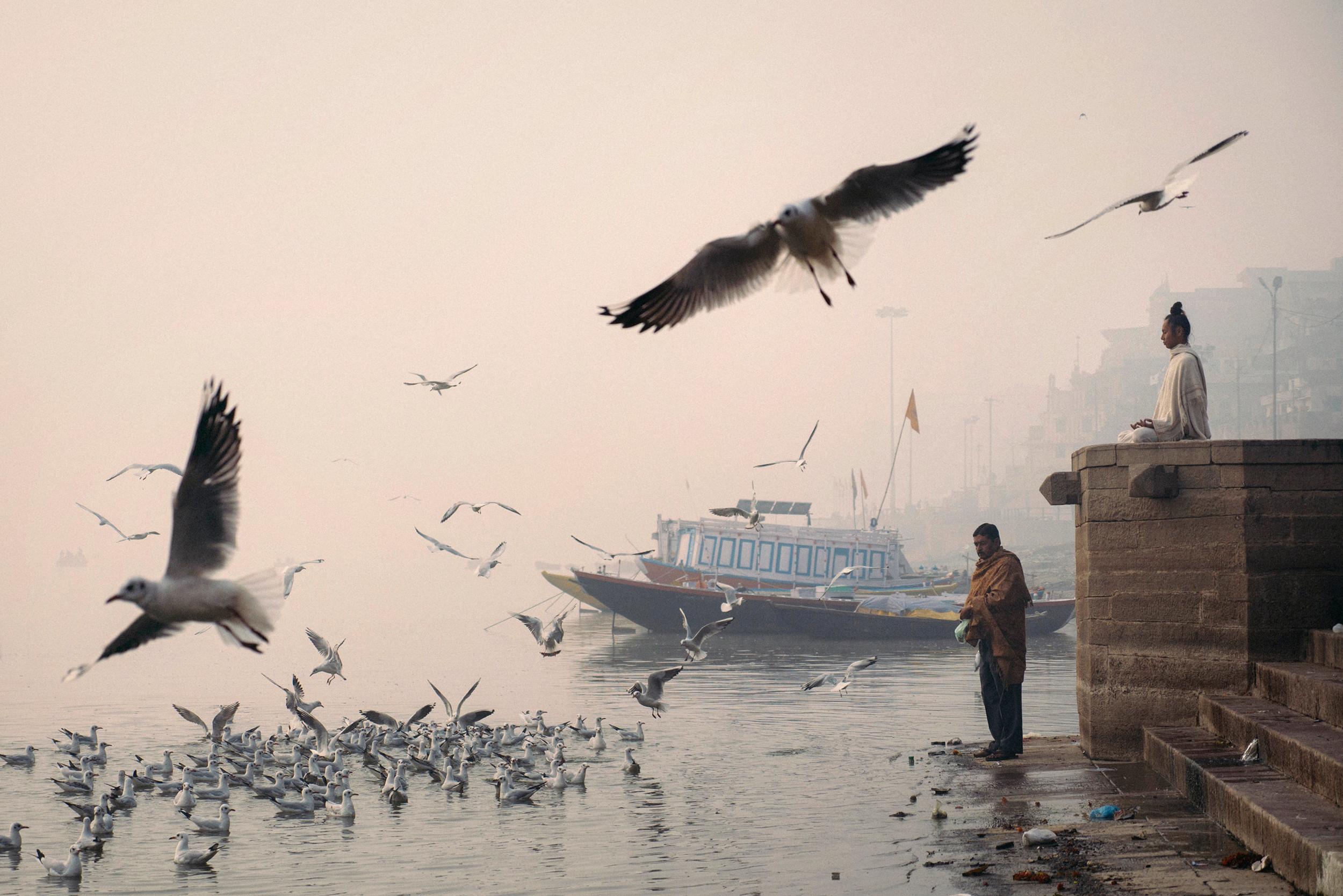Taken with a Panasonic GX7, ISO 250, 12-35mm, f/2.8 at 35mm, 1/3200s |  Varanasi, India -2014