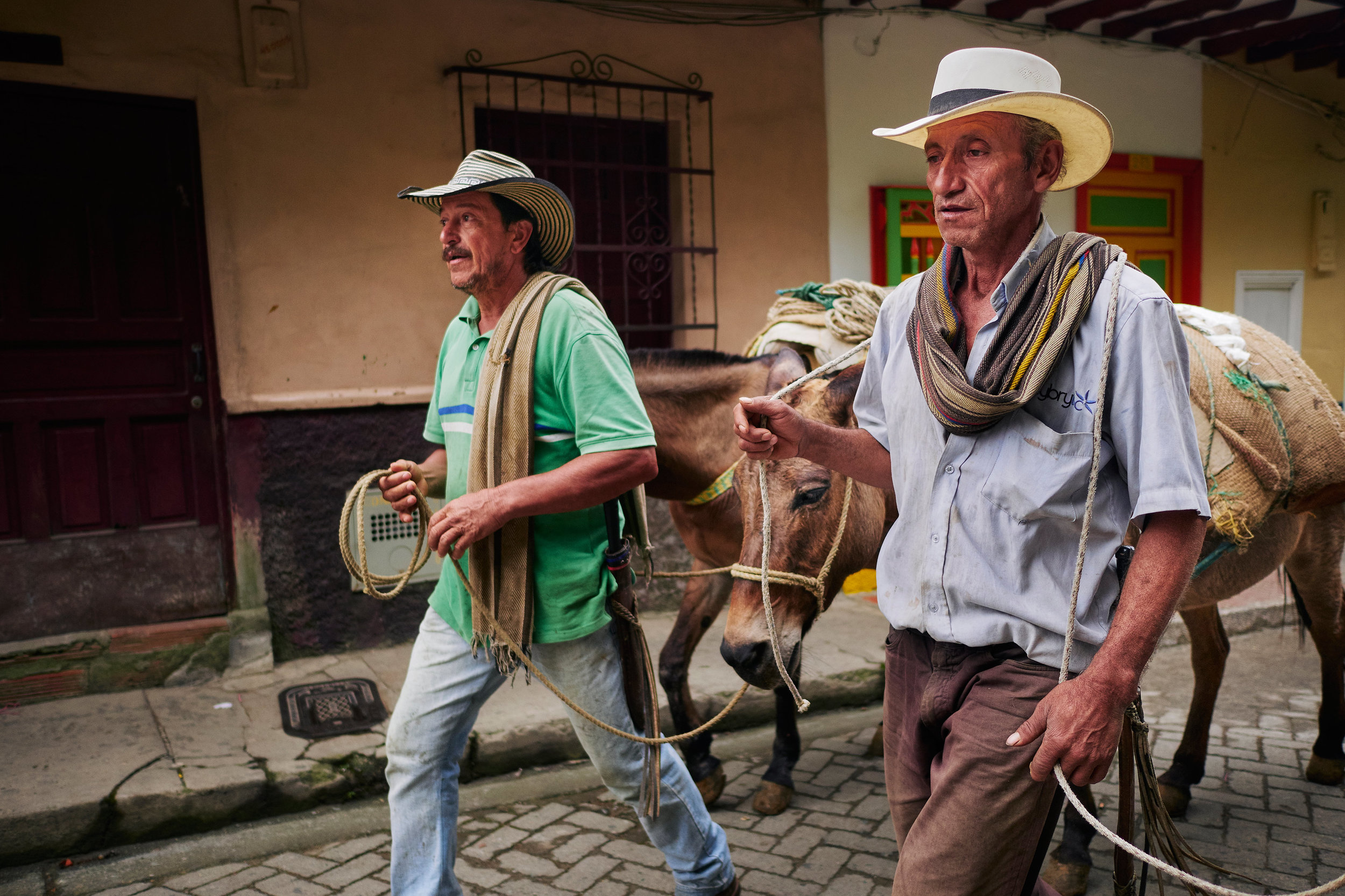 Jericó coffee farmers going to work