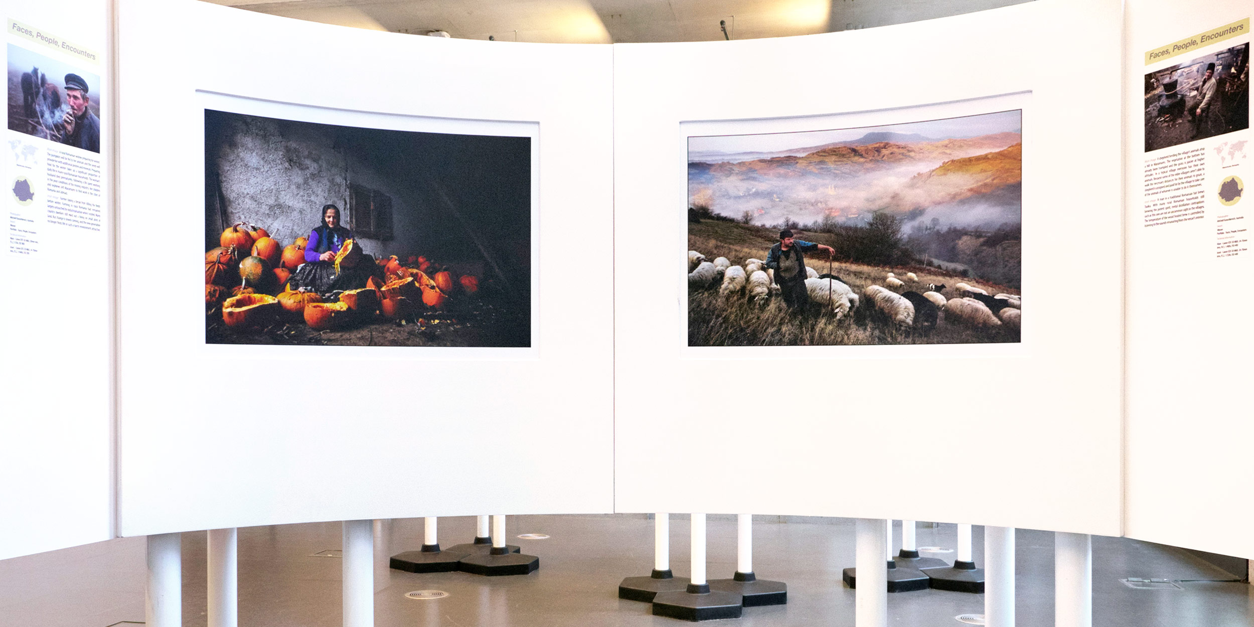 Winning portfolio displayed at the Travel Photographer Of The Year in London