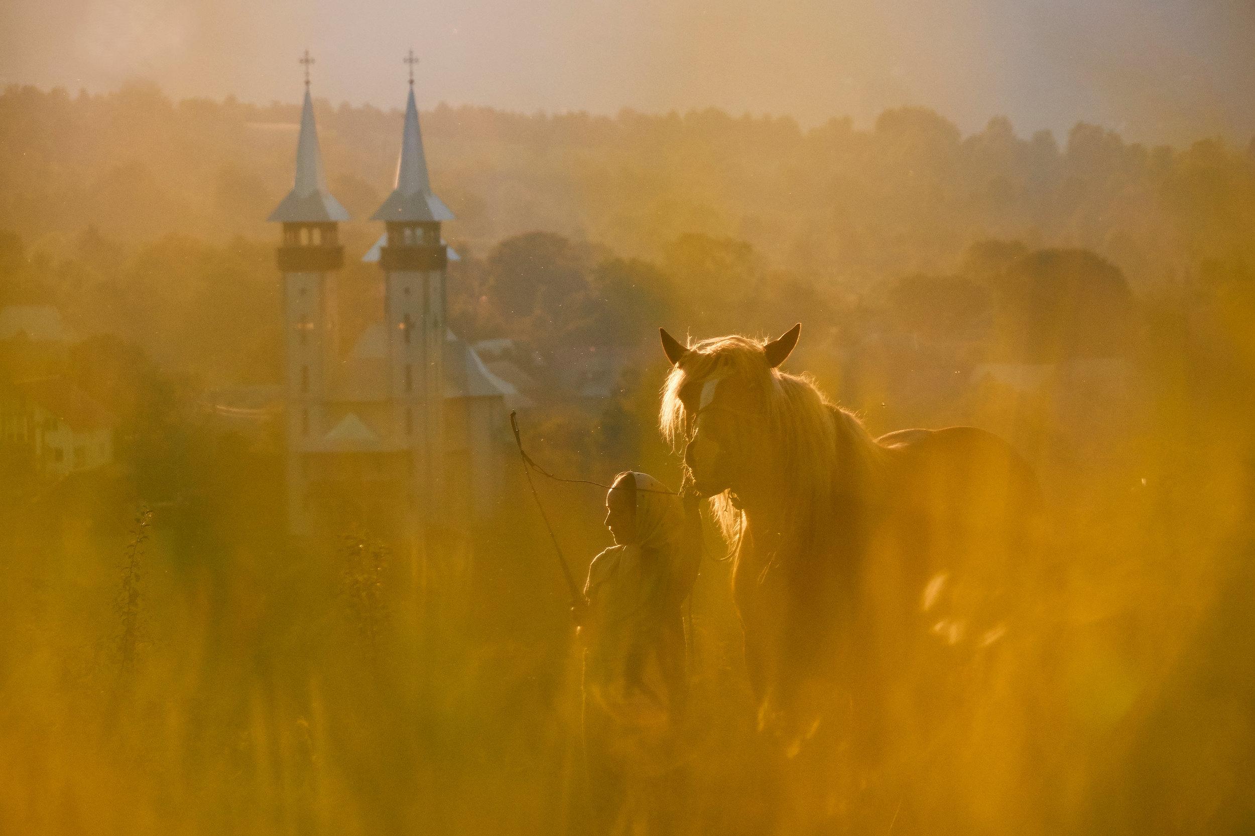 Maramures-Romania-girl-with-a-horse