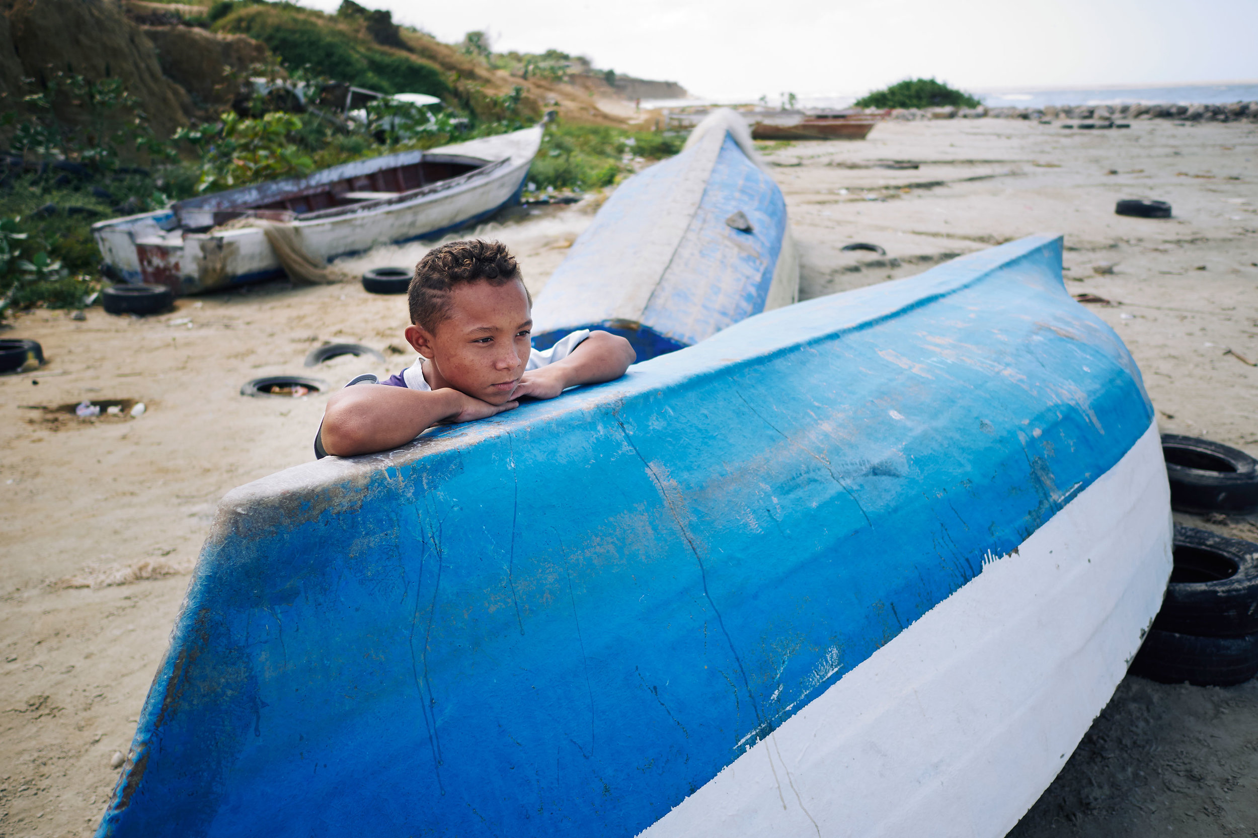 Colombia-travel-Riohacha-Wayuu-boy-on-beach