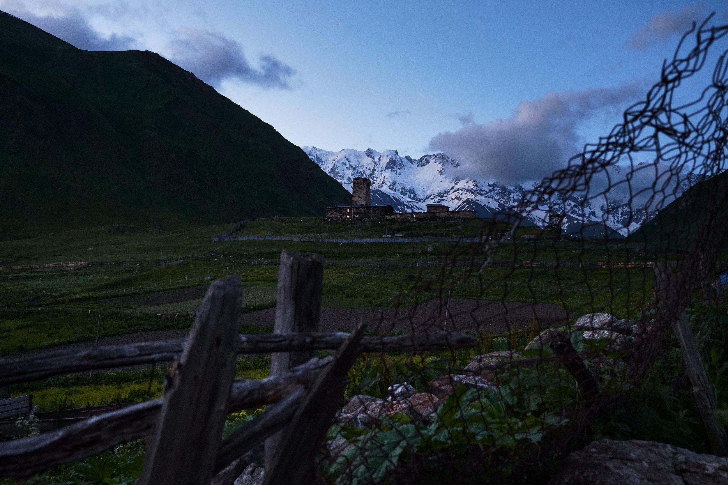Svaneti-Ushguli-view-fortress