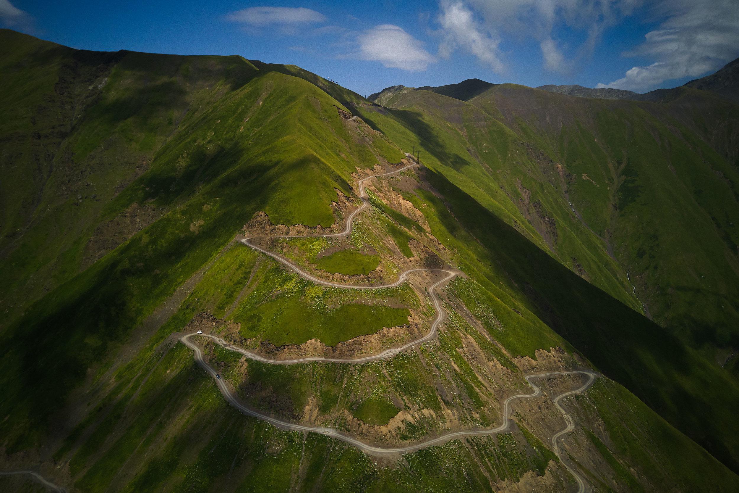 Tusheti-Georgia-winding-mountain-road