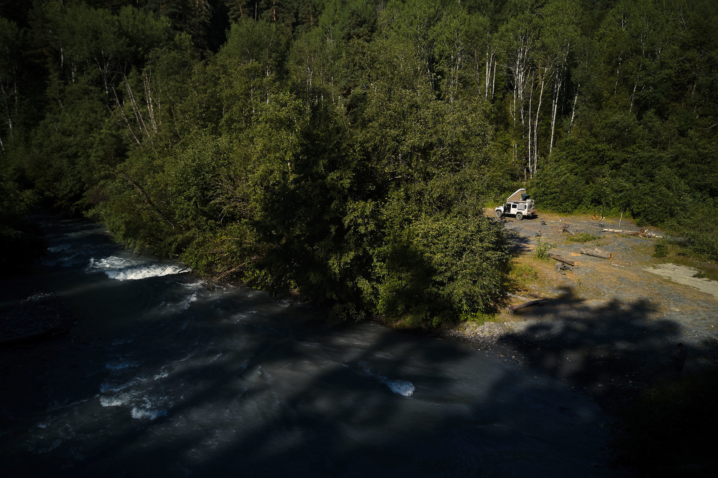 Tusheti-Georgia-camping-by-river