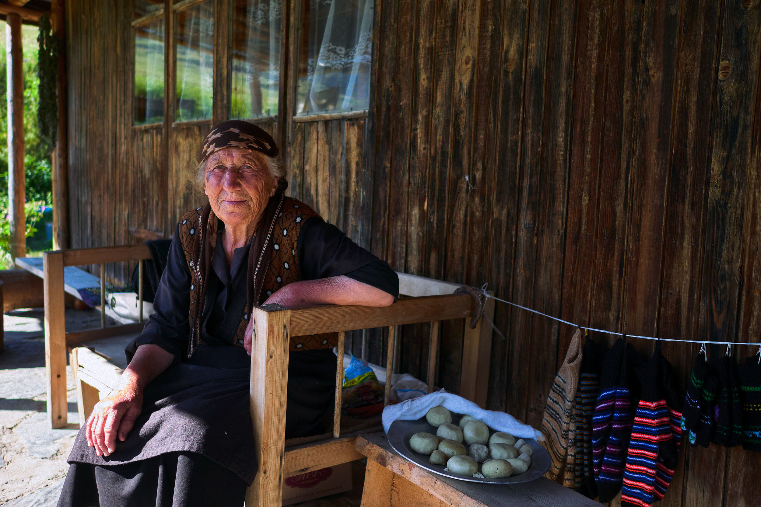 Tusheti-Georgia-woman-selling-souvenirs