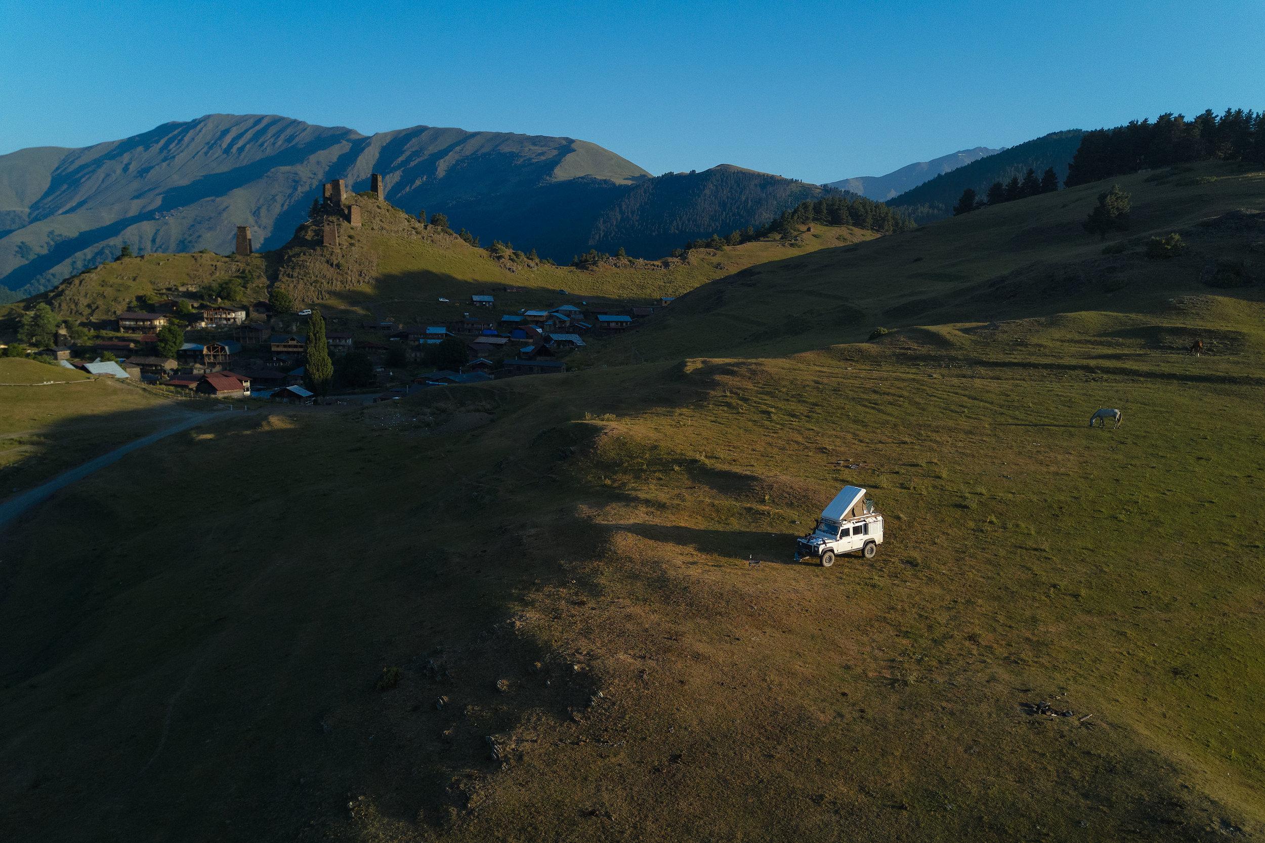 Tusheti-Georgia-camping-above-Omalo