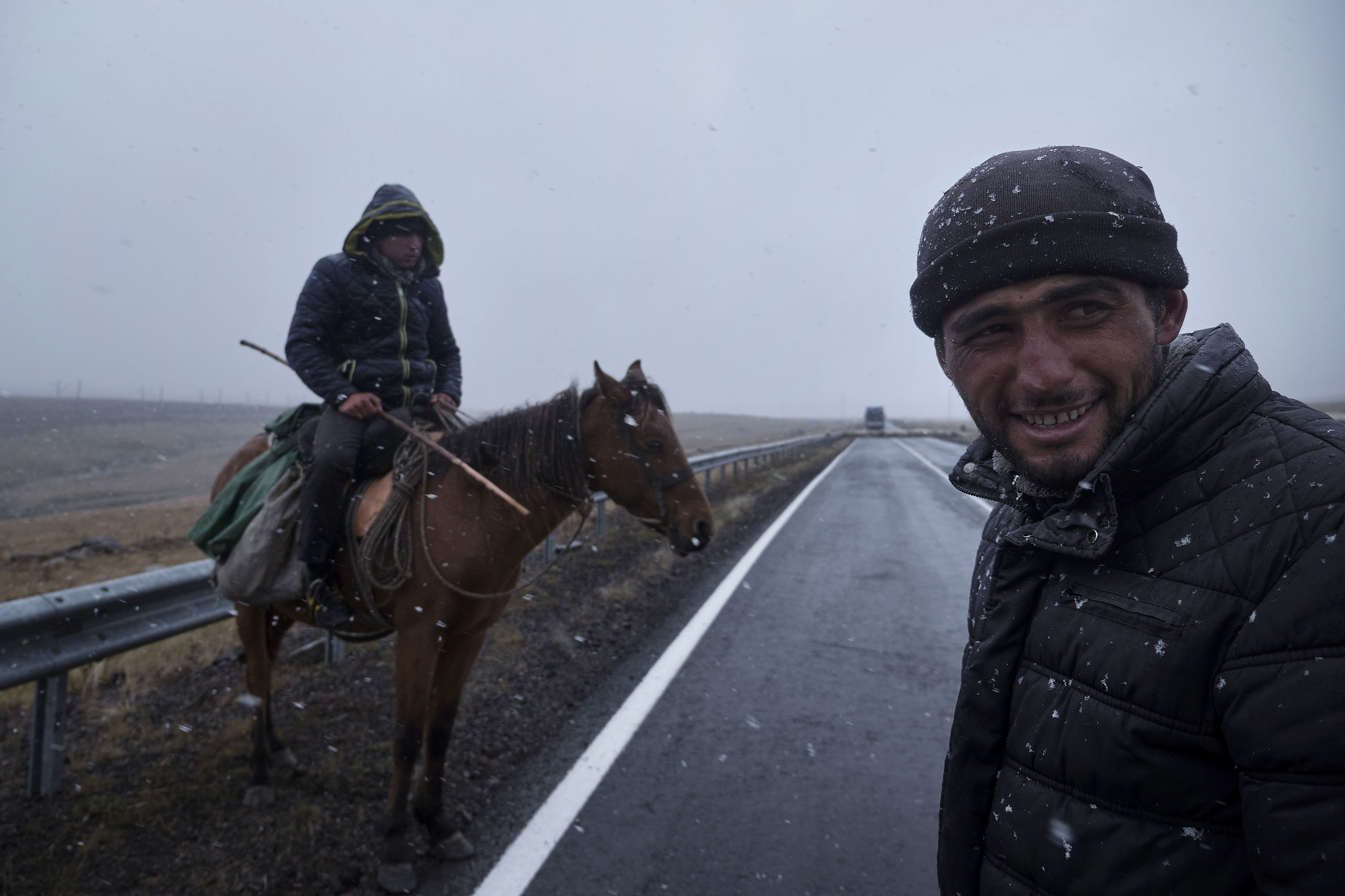 Azeri-shepherds-on-the-road