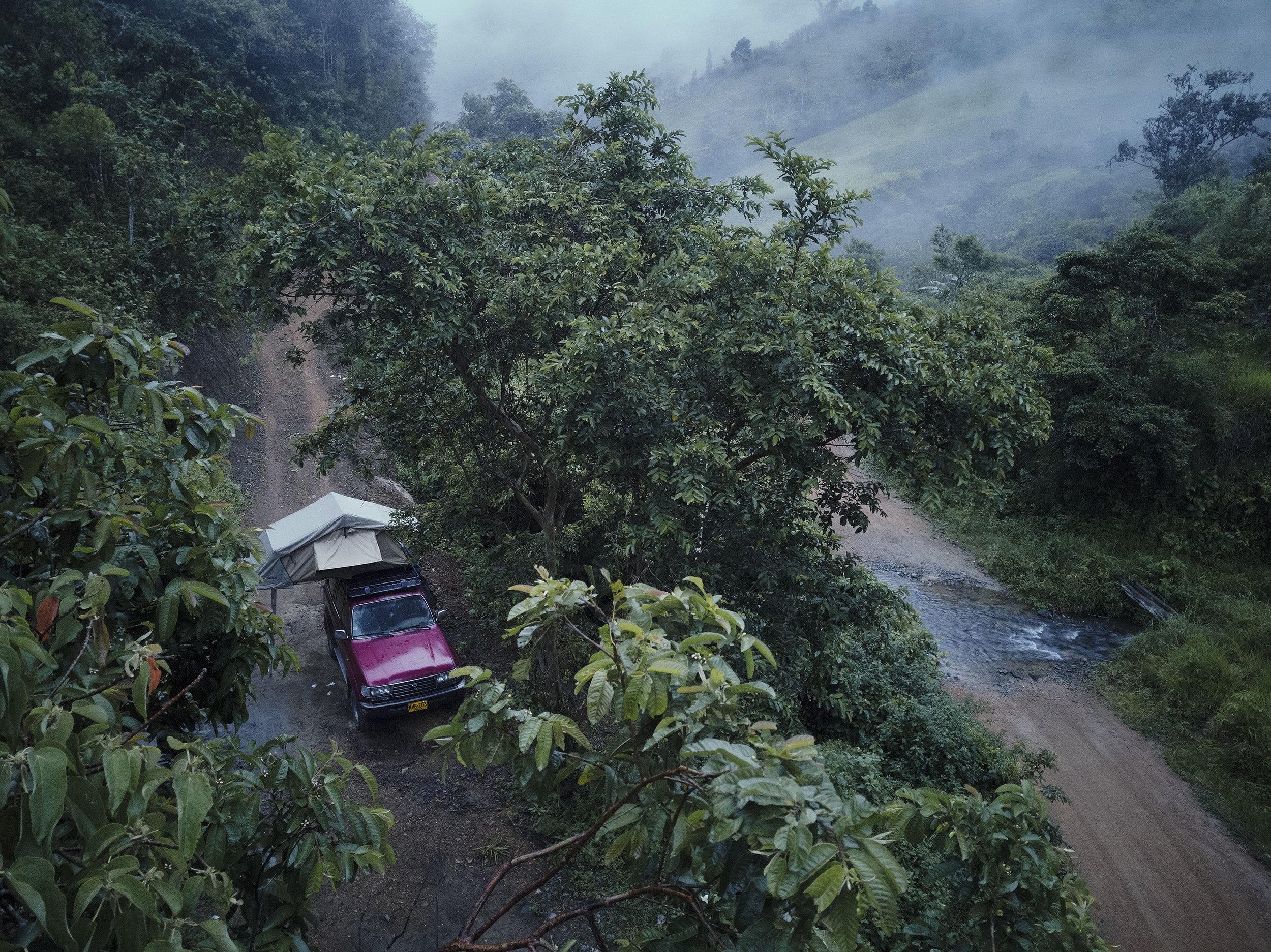 Camping in Ecuador cloud forest
