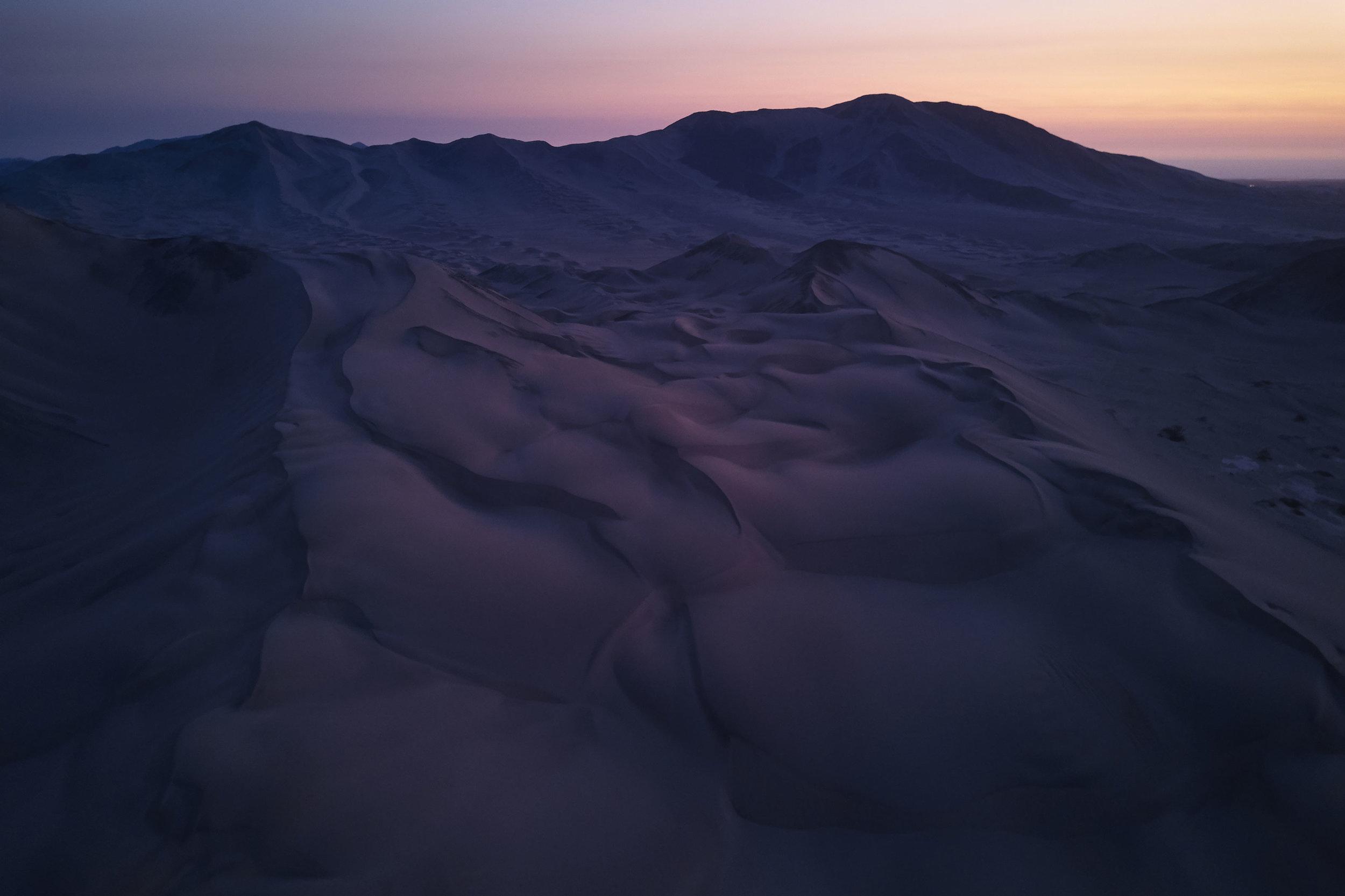 The desert at twilight Peru