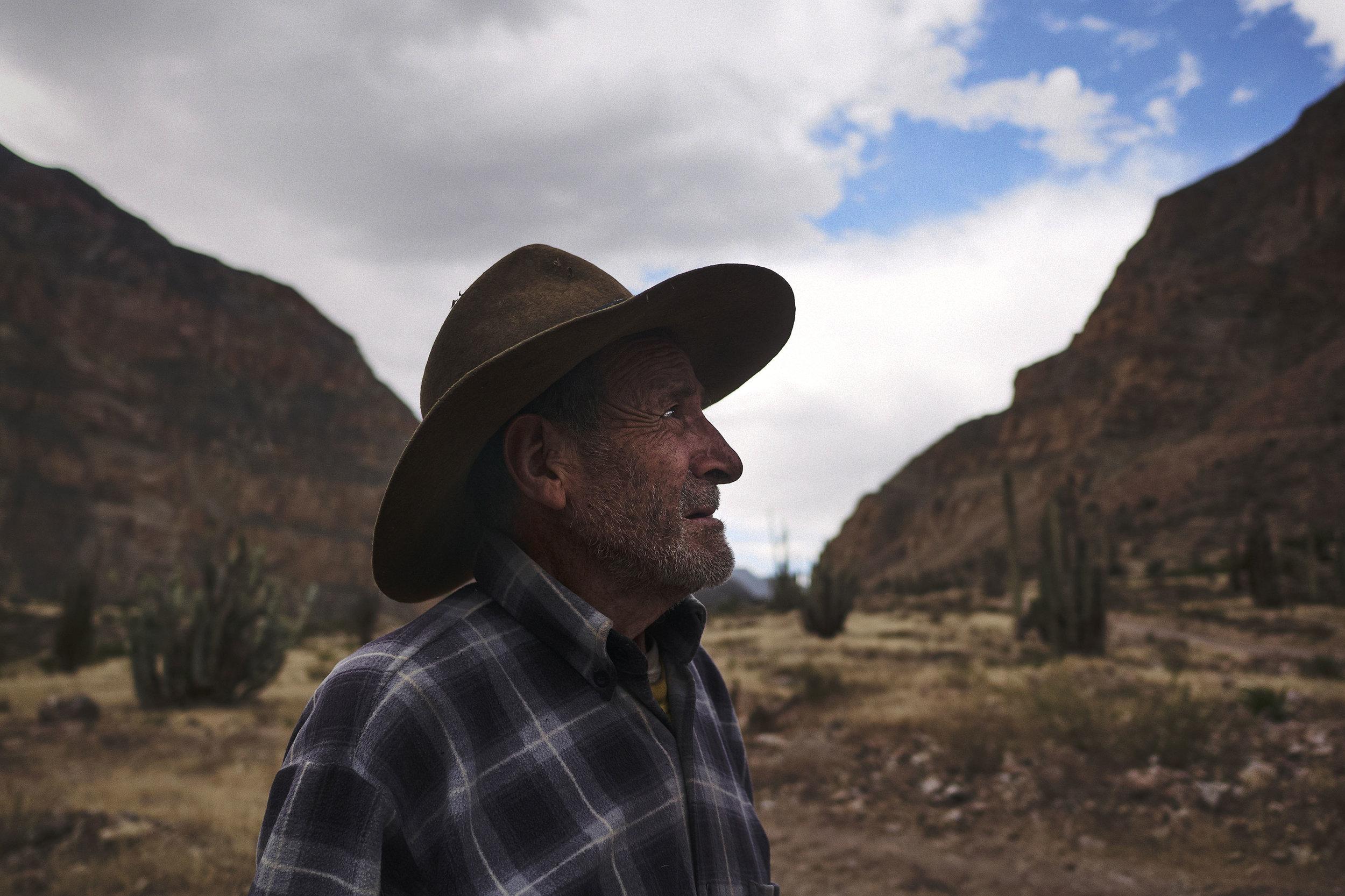 Peruvean cowboy in Cotohuasi canyon