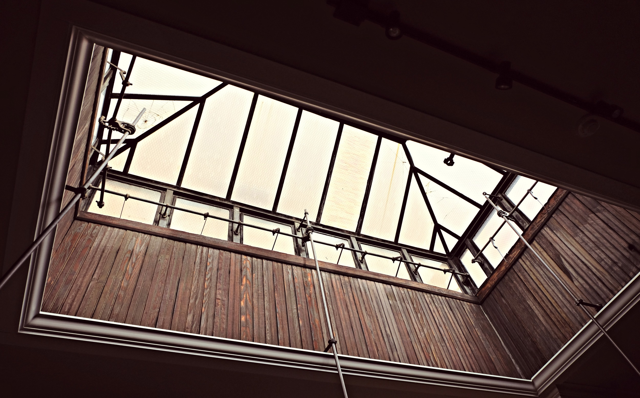 Our beautiful skylight above our kitchen. It is the last skylight left on Main Street Columbus.