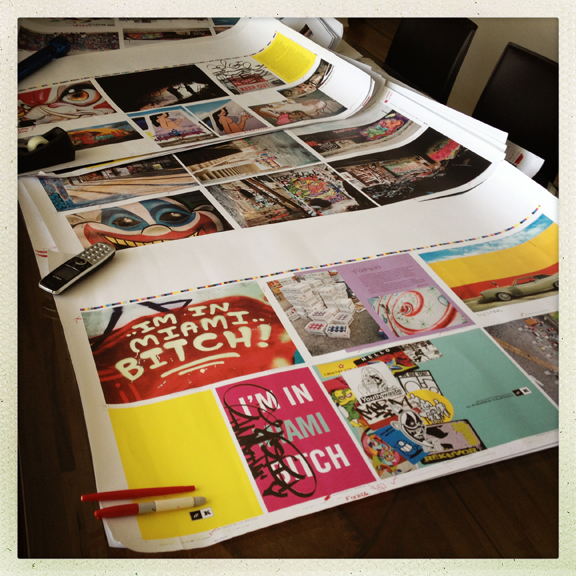 Final proofs for I'M IN MIAMI BITCH! the book.