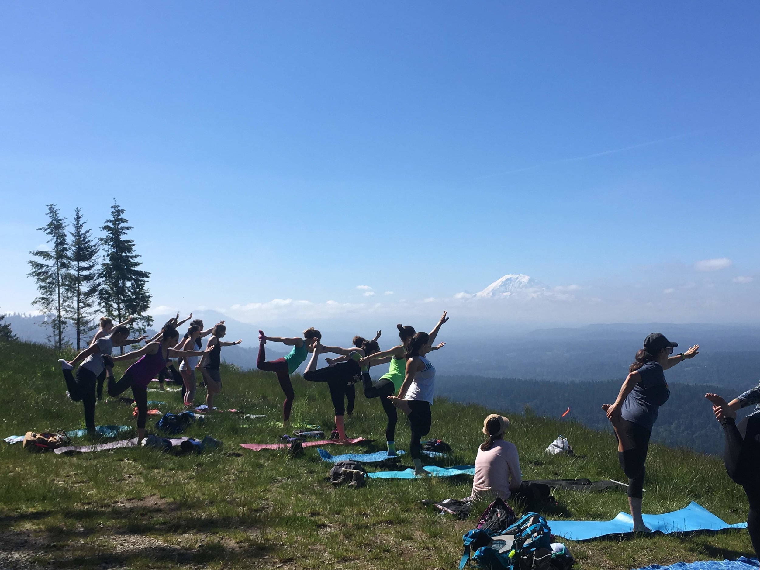 The view from Poo Poo Point feat. some flexible people
