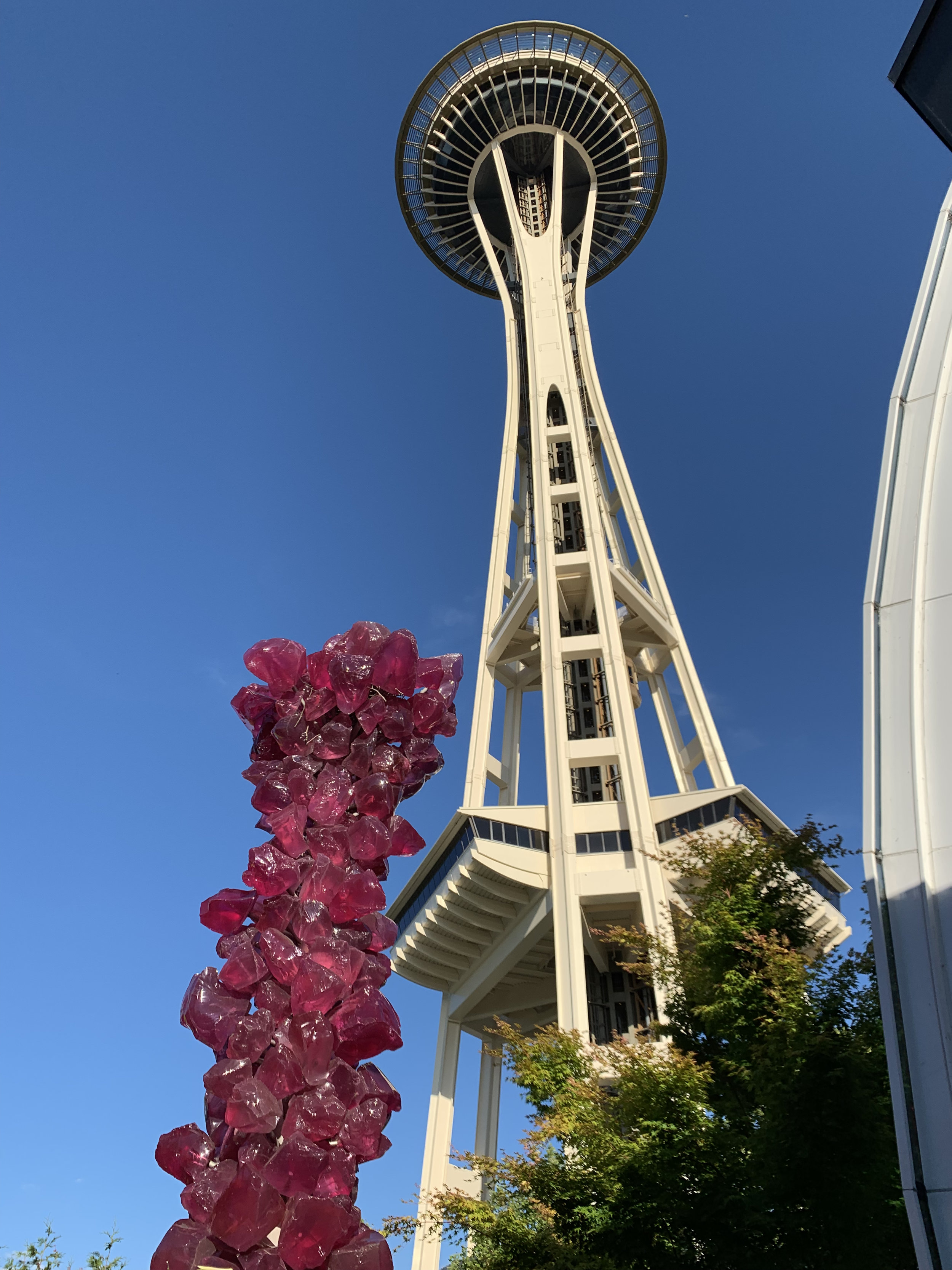 One of the garden sculptures up next to the Space Needle