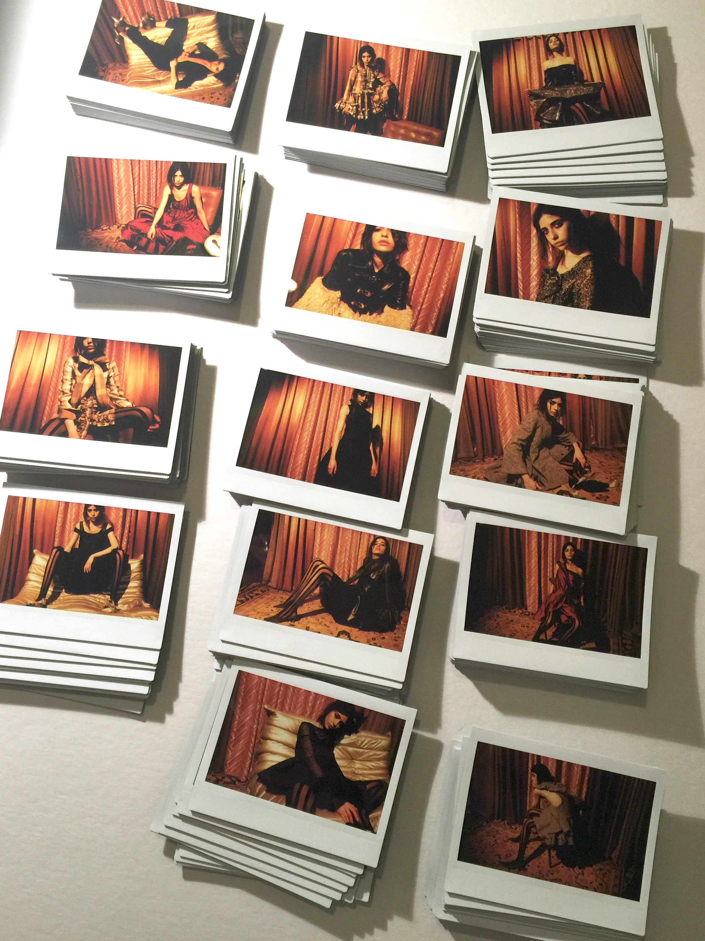 fuji film instax originals from campaign photoshoot January 2016 by Lloyd Stevie for Kelsey Randall