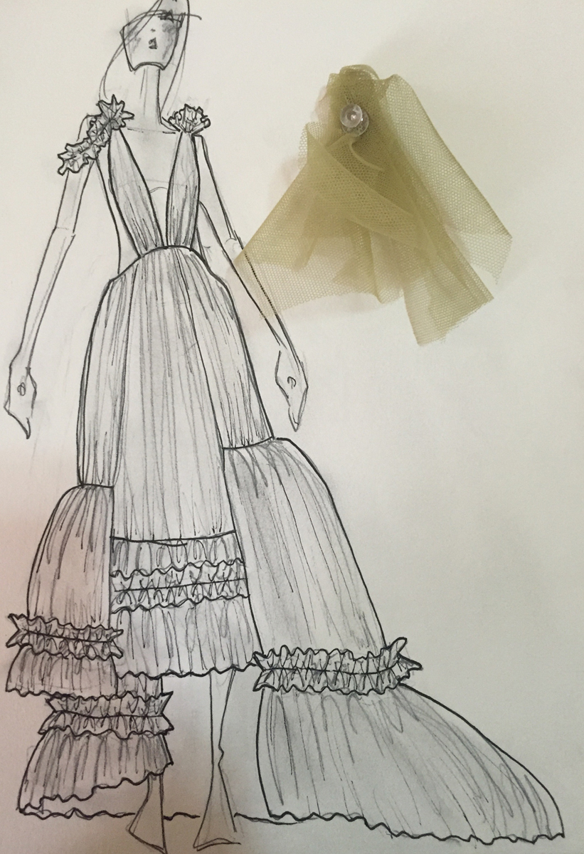 sketch for s/s17 Kelsey Randall
