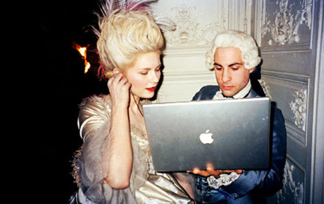 Dunst & Schwartzman on the set of Marie Antoinette (2006)
