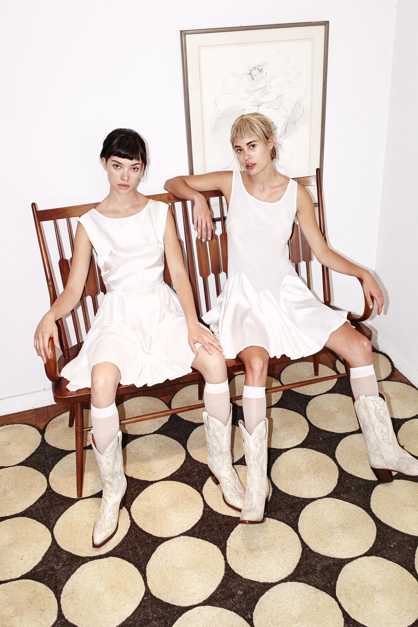 kelsey randall white cream cotton silk swiss dot shirt dress godet babydoll tea time party day bridal bridesmaid rehearsal dinner dress