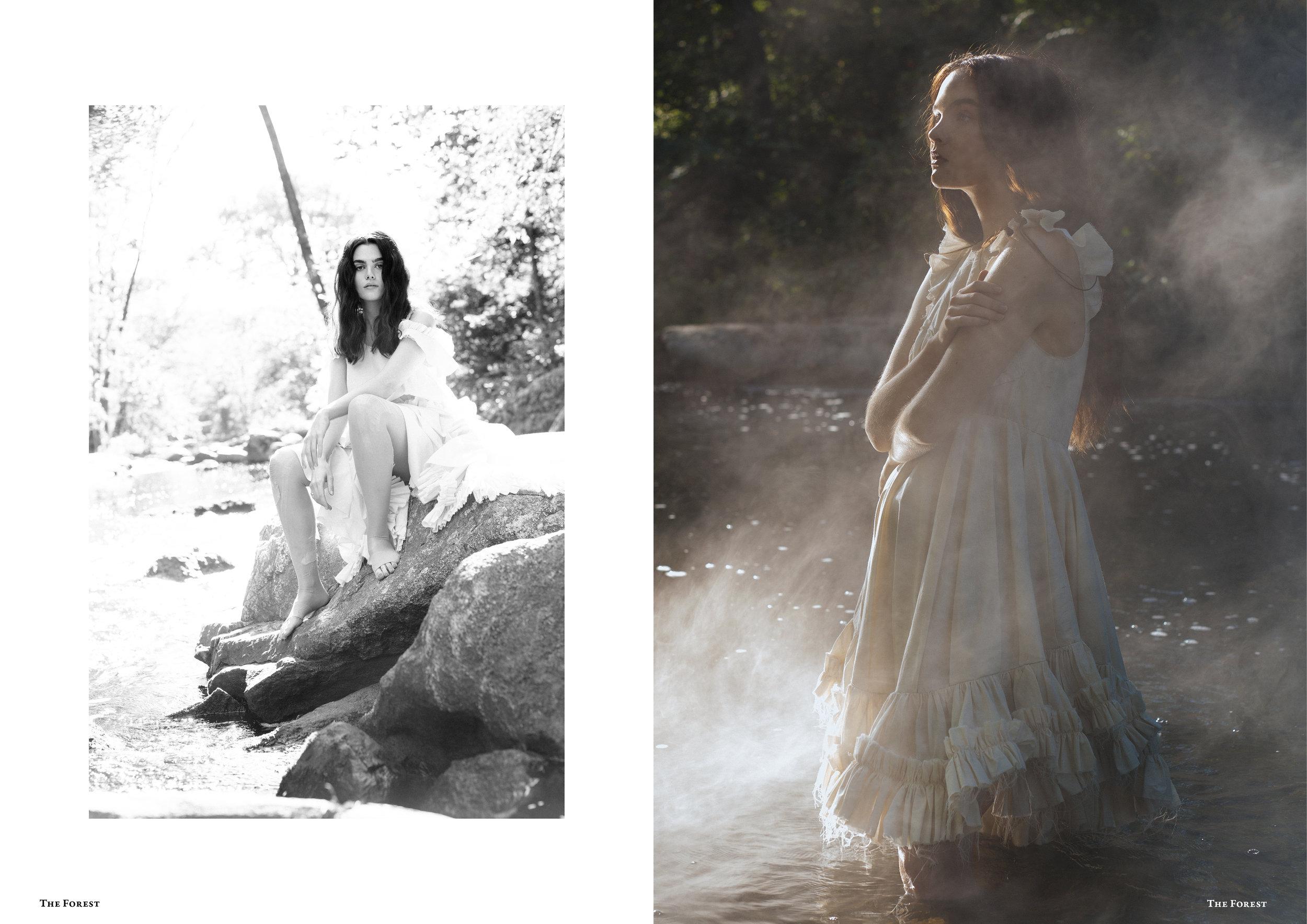 kelsey randall bespoke muslin collection charlie howard lucia roberts models the forest magazine spencer ostrander