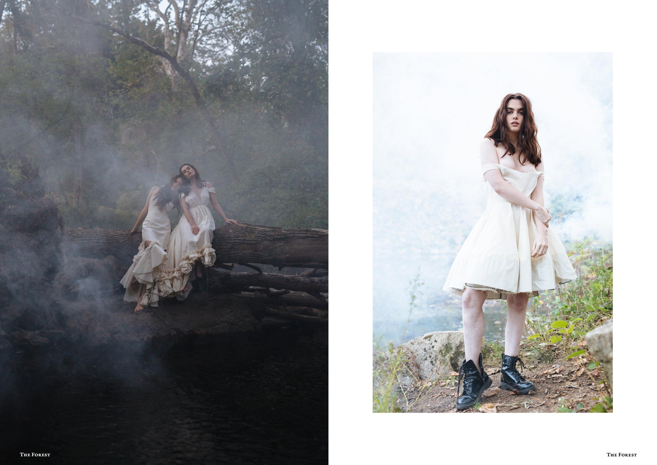kelsey randall bespoke muslin collection the forest magazine spencer ostrander charlie howard lucia roberts