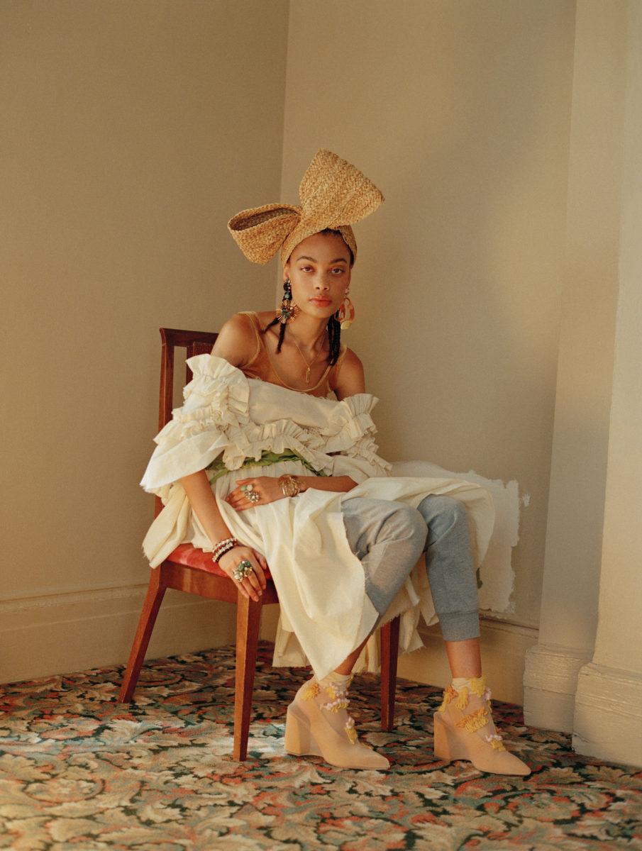 iris covet book fashion magazine editorial featuring kelsey randall ruffle muslin angel dress