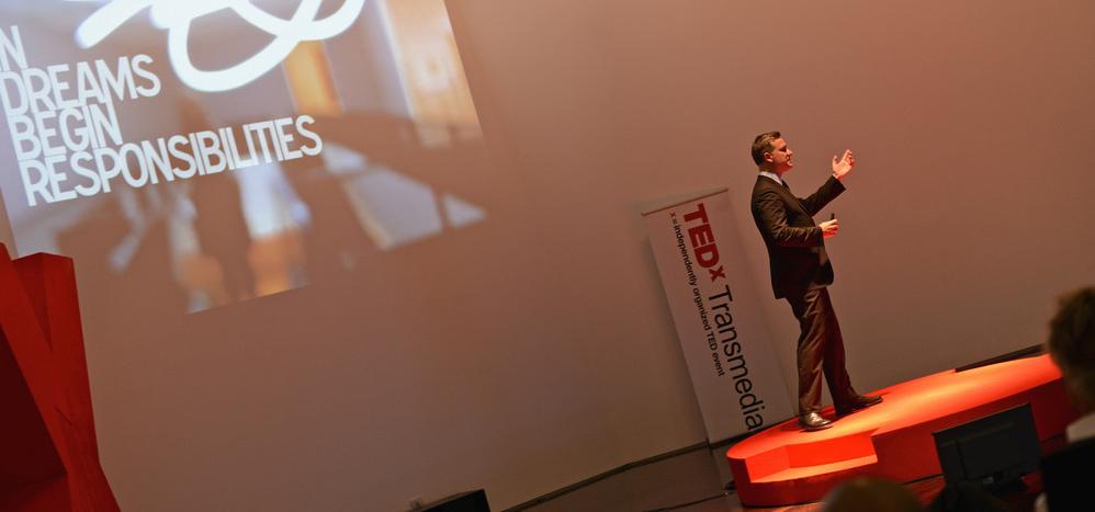 Speaker Robert Tercek. Pic by Lisa Lemee.