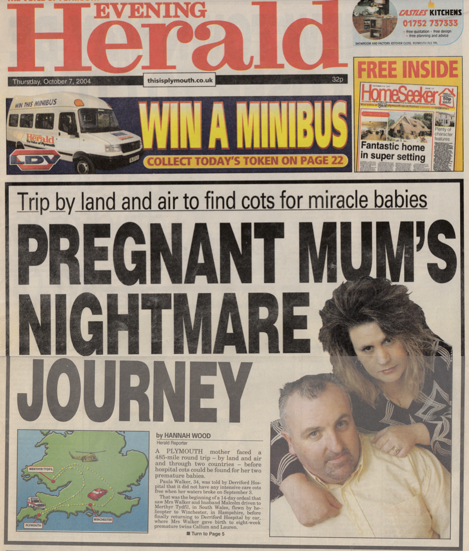 Interview with a pregnant woman who was ferried 485 miles before a hospital bed could be found for her to give birth.