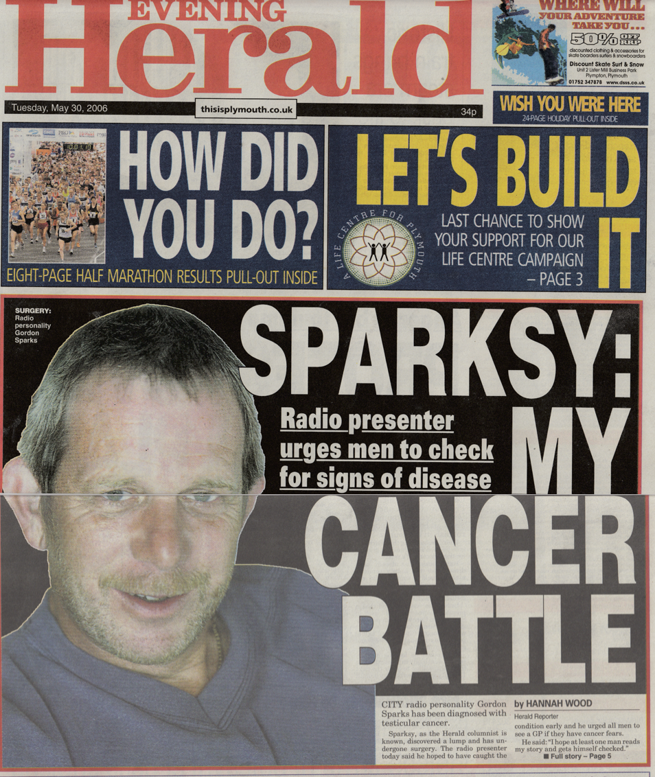 Interview with BBC radio presenter who battled testicular cancer and wanted to raise awareness about the disease.
