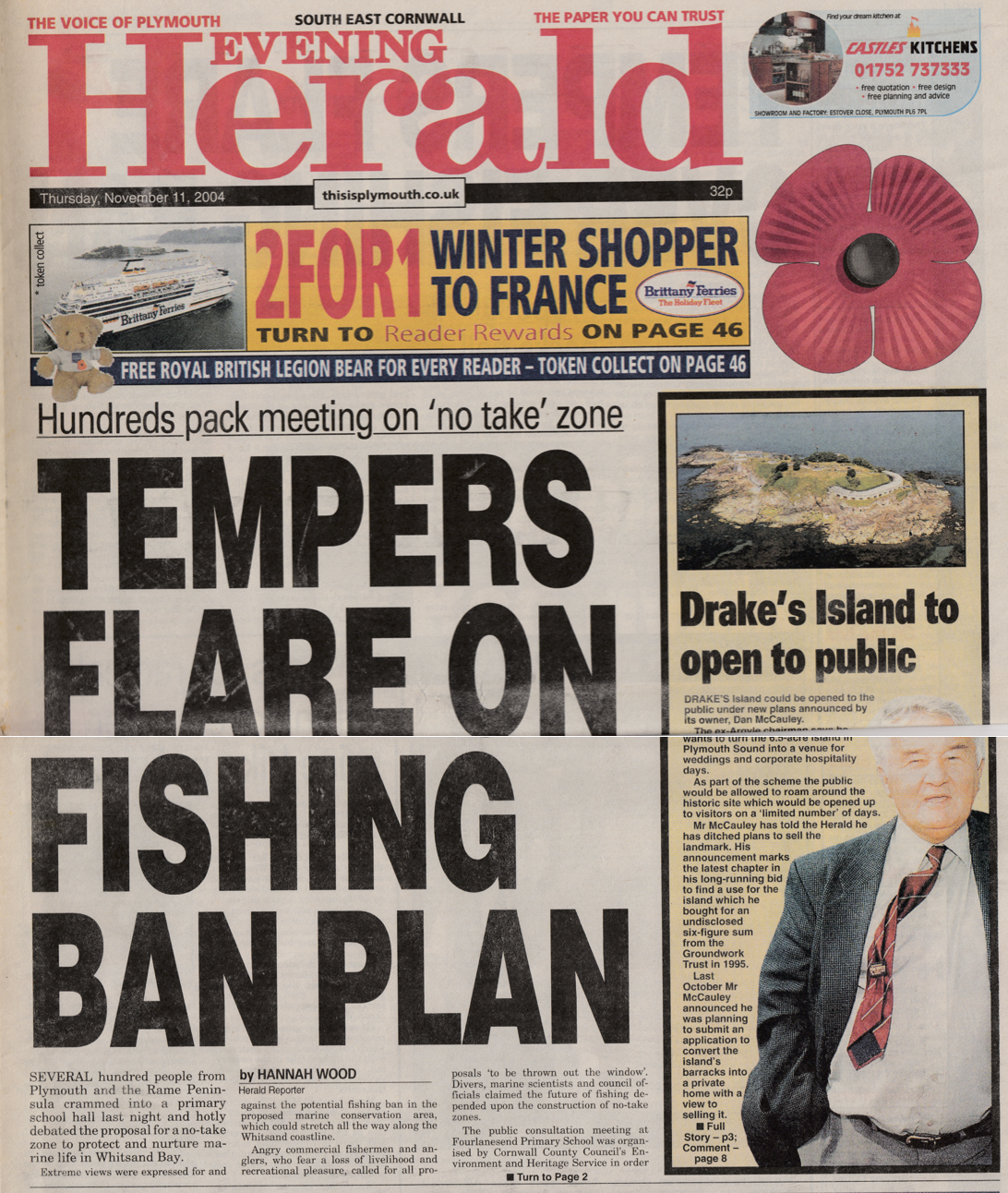 Coverage of a public meeting discussing a proposed 'no take zone' to protect marine life.