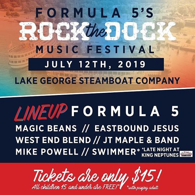 See you July 12 at Rock The Dock in Lake George NY alongside @formula5music and many more!