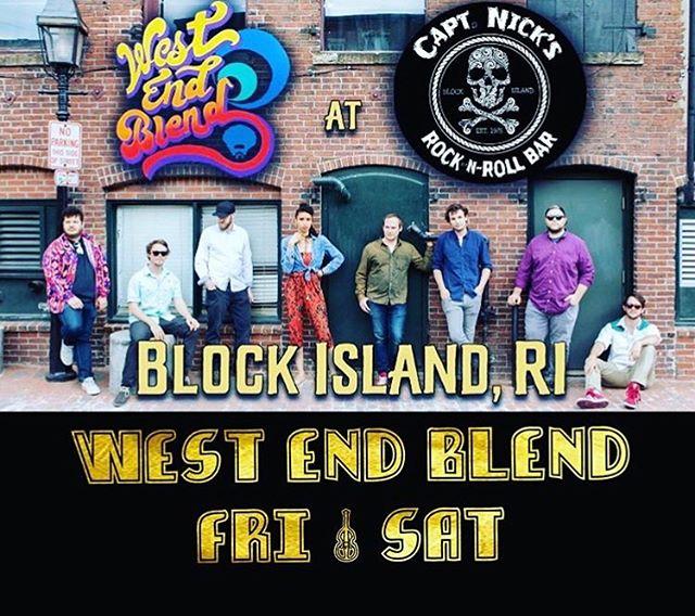 2 nights on Block Island starts TONIGHT at @captainnicksbi! Two sets each night starting at 9:30pm 🌊🌊🌊🌊🌊🌊