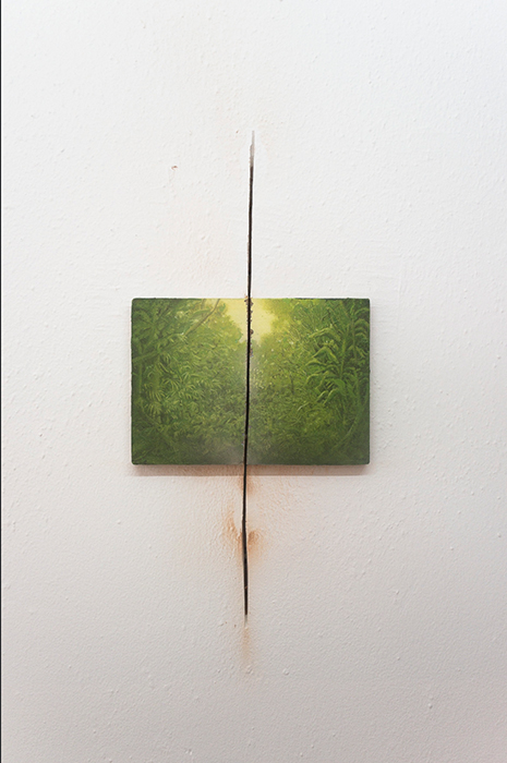 Francis Alÿs, Untitled, Study for A Story of Deception, 2004, Oil on canvas, 18 x 26 x 2 cm