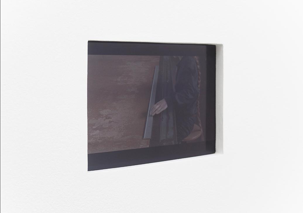 Marie Cool Fabio Balducci, Untitled, 2001, metal ruler, ballpoint pen, table. Video: 1 min 51