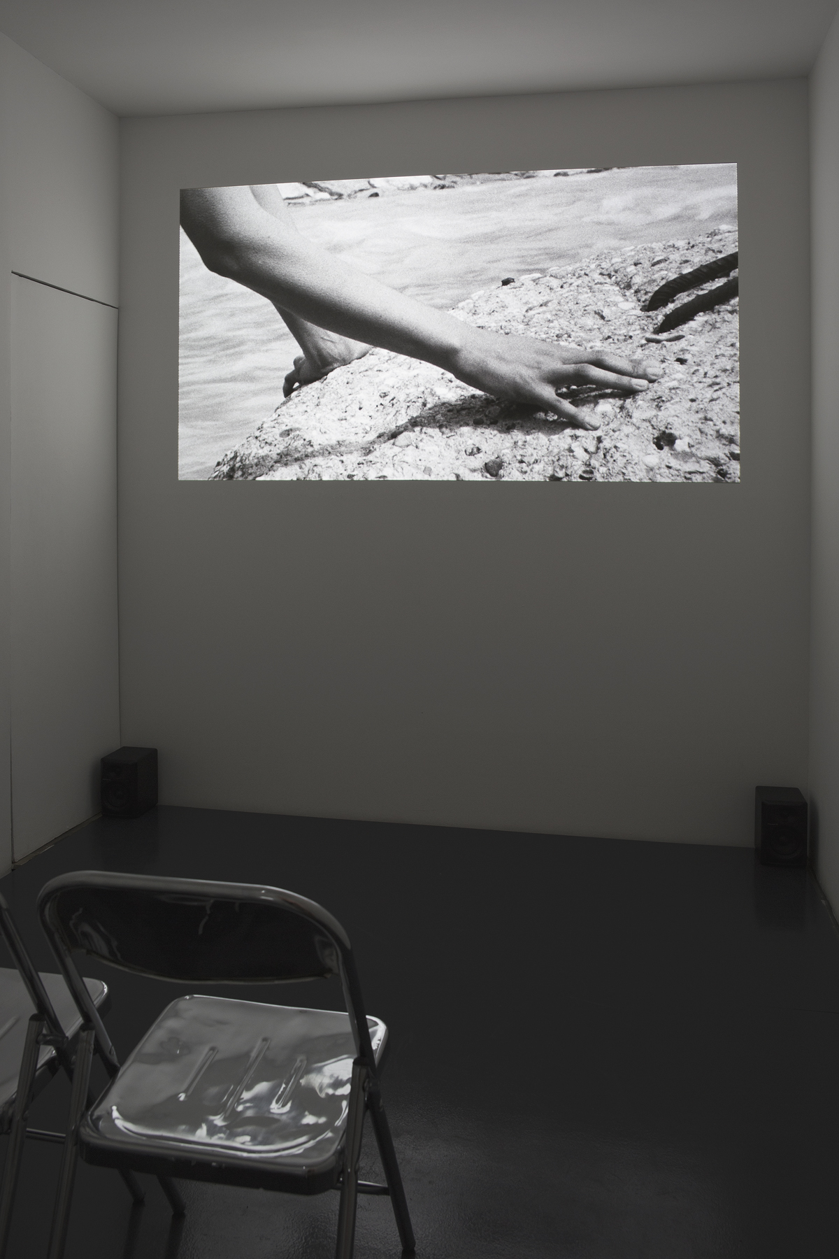 Installation view. Film projection: River Plate