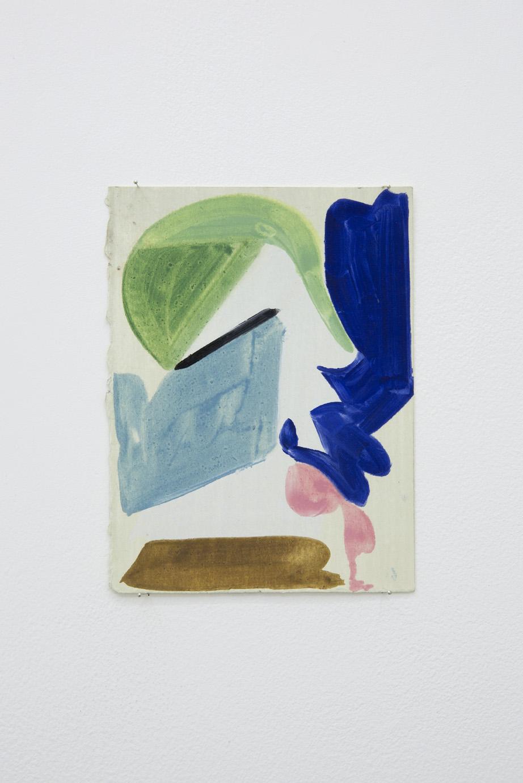 Patricia Treib, Interstice Variation, 2015. Oil on paper, 7 1/2 x 5 1/2 inches (18 x 13 cm)