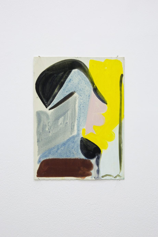 Patricia Treib, Interstice Variation II, 2015. Oil on paper, 7 1/2 x 5 1/2 inches (18 x 13 cm)
