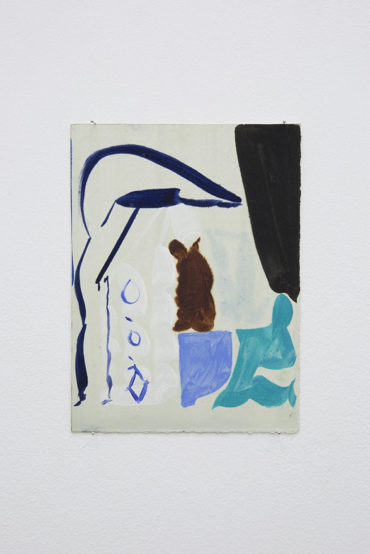 Patricia Treib, Delft Icon Variation, 2015. Oil on paper, 7 1/2 x 5 1/2 inches (18 x 13 cm)