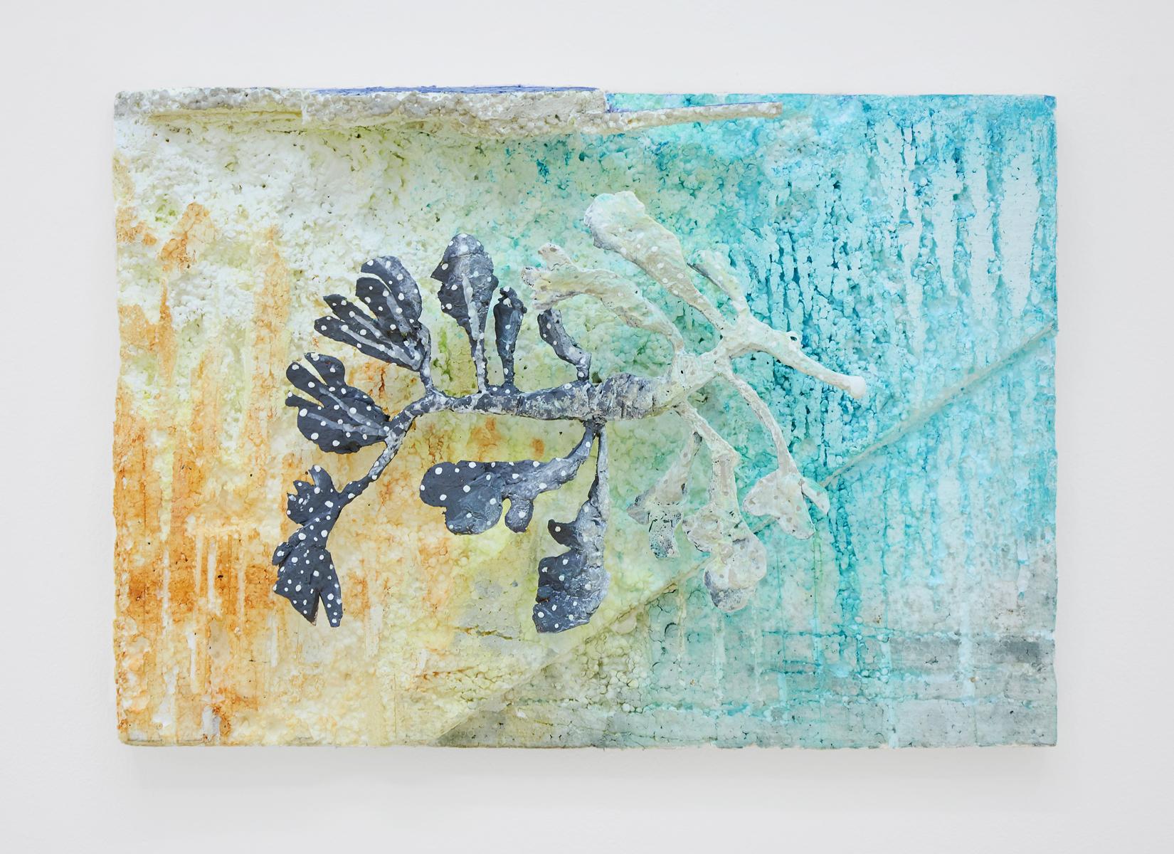 Lin May Saeed, Teneen Albaher Relief III, 2017. Styrofoam, steel, acrylic paint, 33,5 x 47 x 12,5 cm