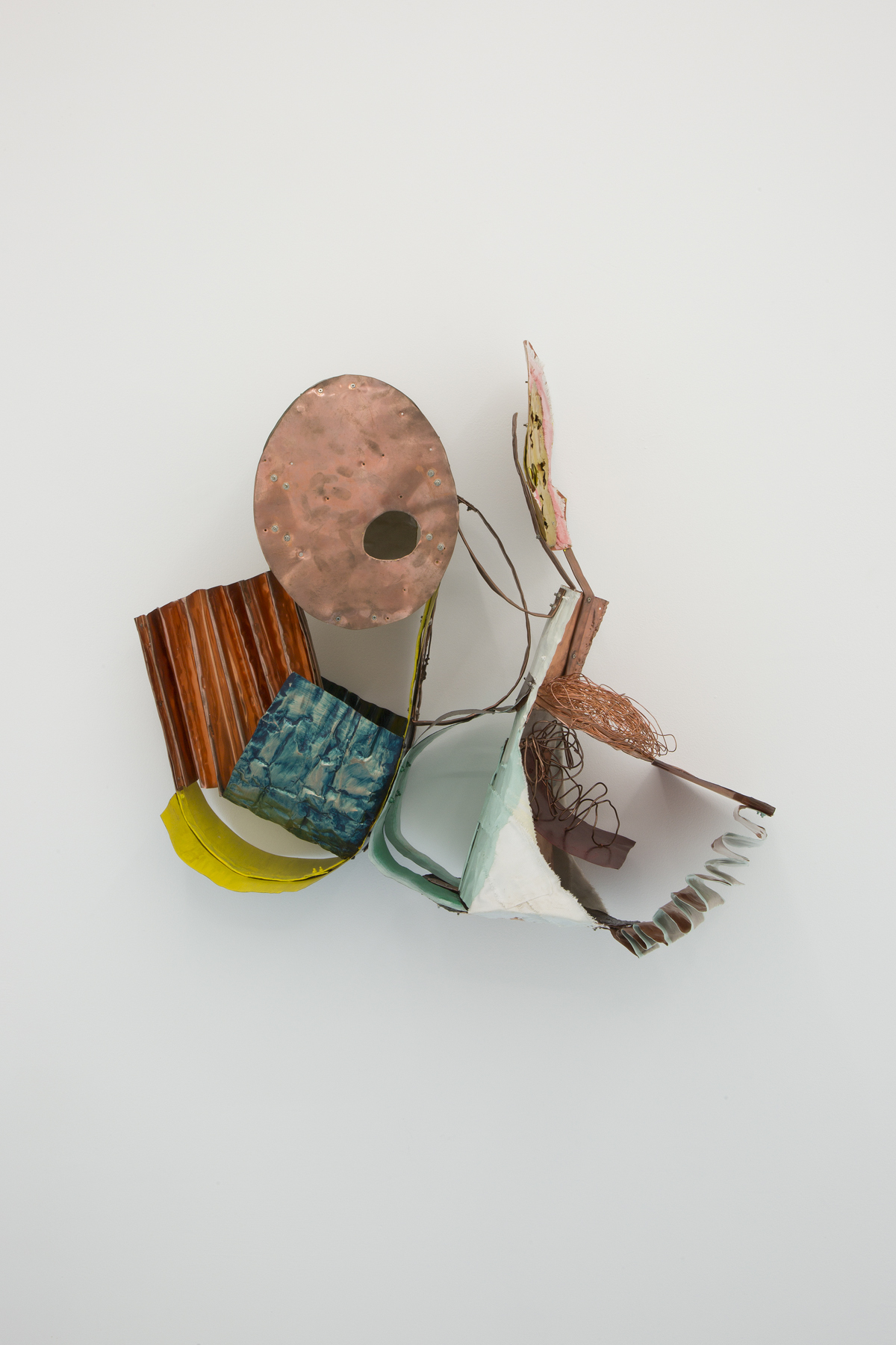 Miho Dohi, Buttai 31, 2014.  Copper plate, cloth and other, h55 x w64 x d26 cm (21.65 x 25.19 x 10.23 in.)