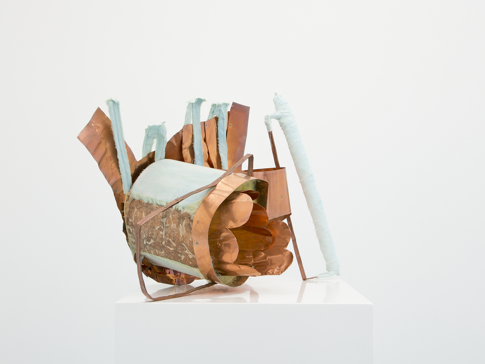 Miho Dohi, Buttai 35, 2015.  Copper plate, cloth and other, h40 x w55 x d30cm (15.74 x 21.65 x 11.81 in.)