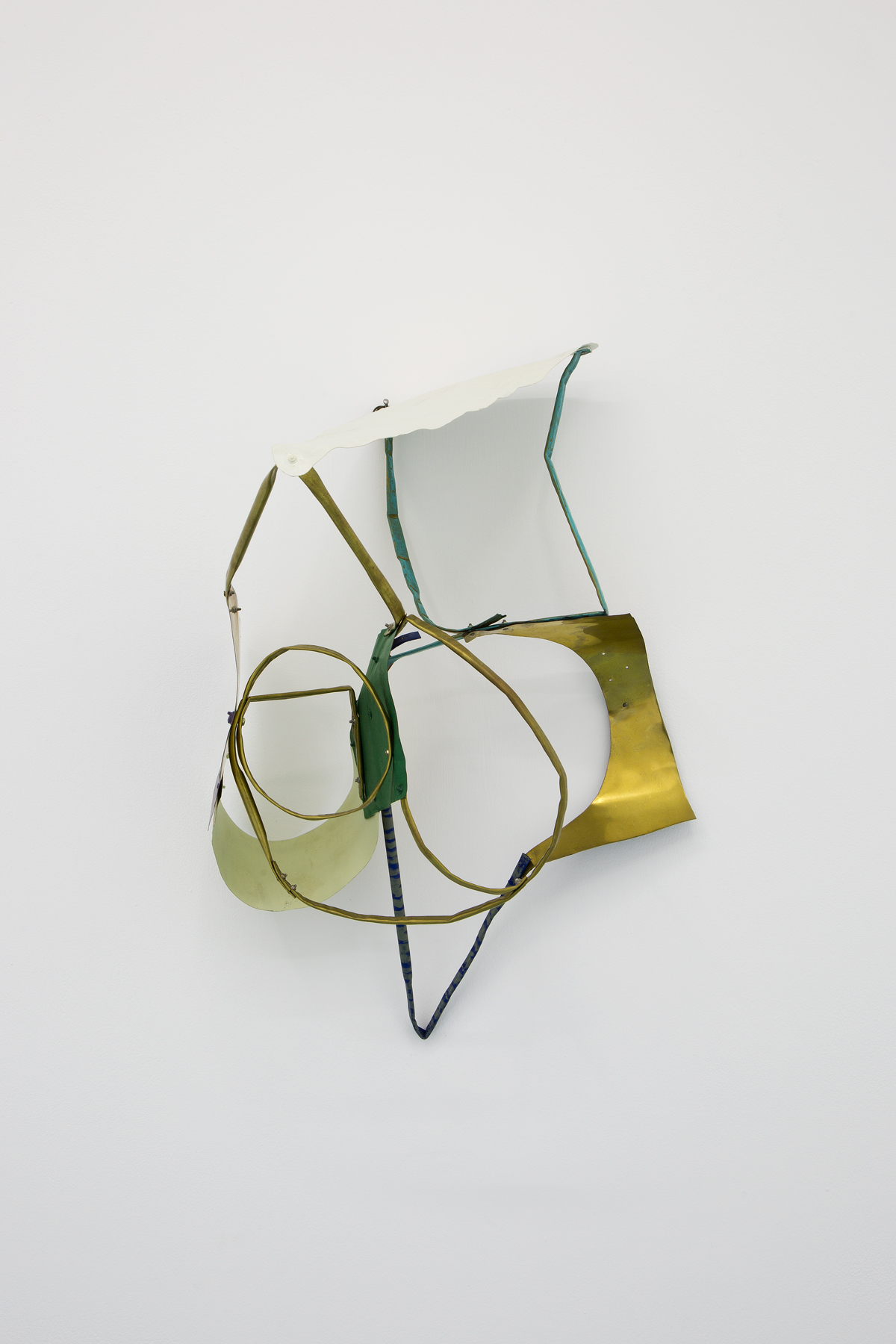 Miho Dohi, Buttai 25, 2013.  Brass, acrylic and paint, h55 x w38 x d33 cm (21.65 x 14.96 x 12.99 in.)