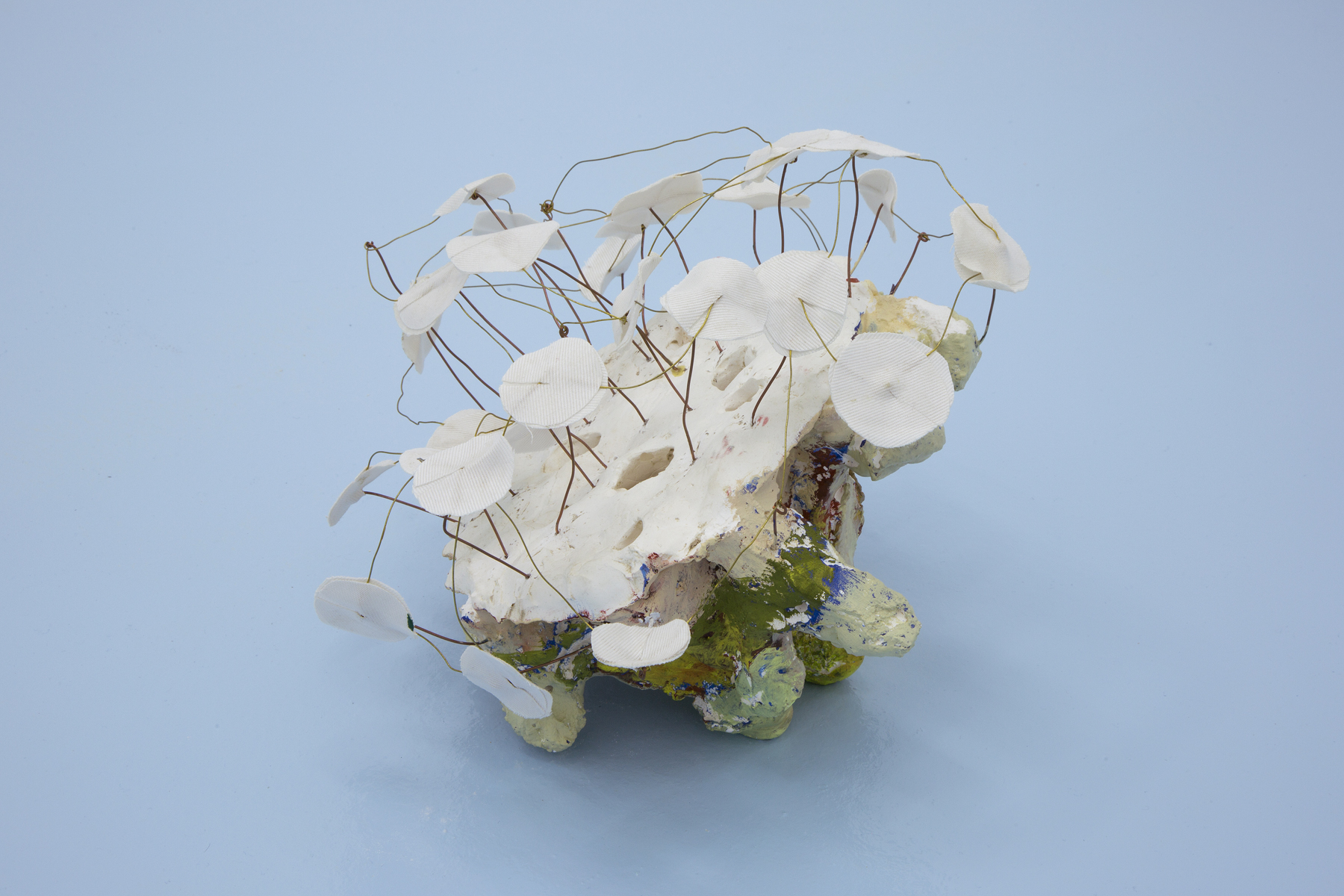Miho Dohi, Buttai 24, 2013.  Plaster, copper, cloth and acrylic, h20 x w25 x d25 cm (7.87 x 9.84 x 9.84 in.)