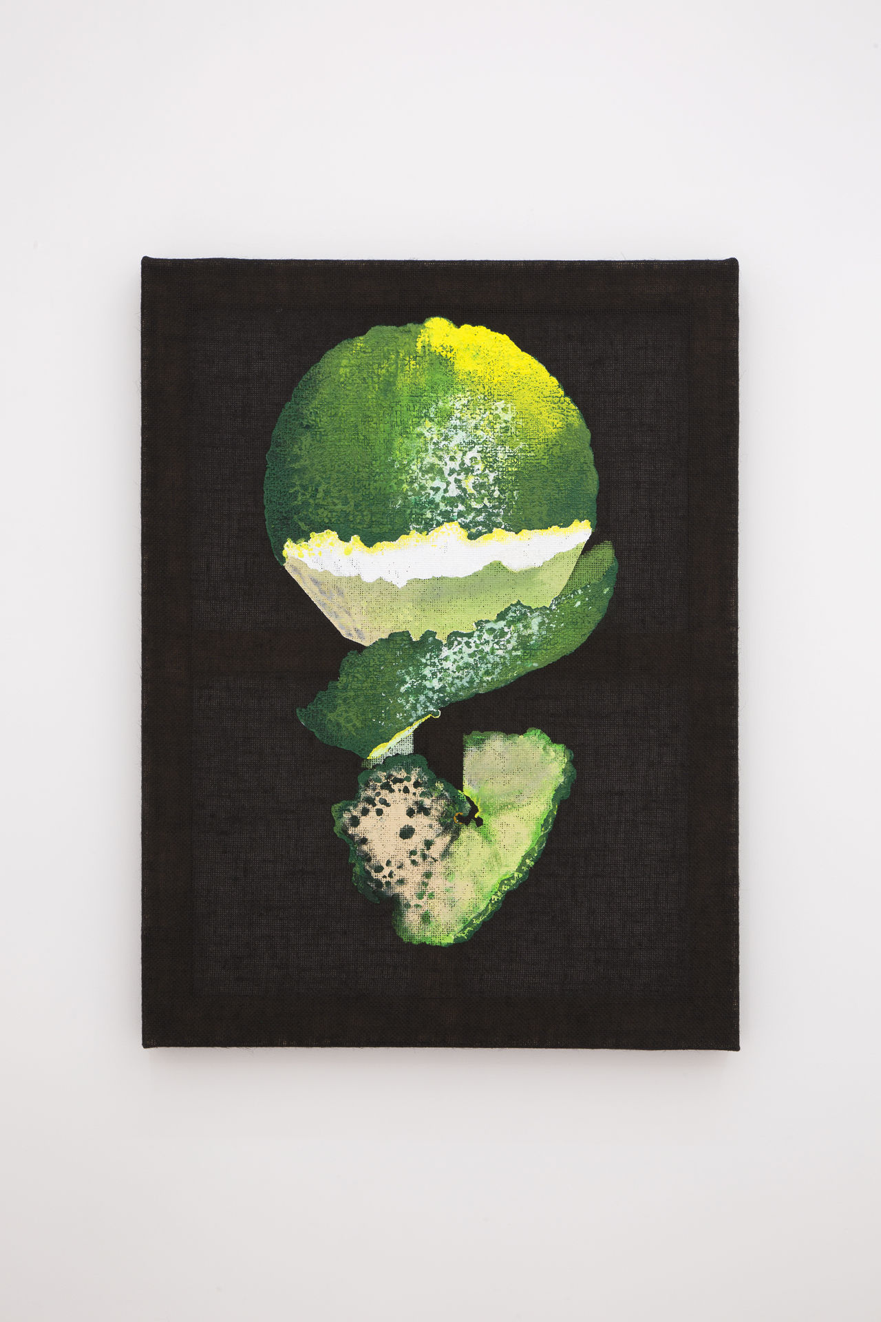 Maja Vukoje, Lime, 2017. Acrylic on burlap, 80 x 60 cm; 31,5 x 23,6 in.