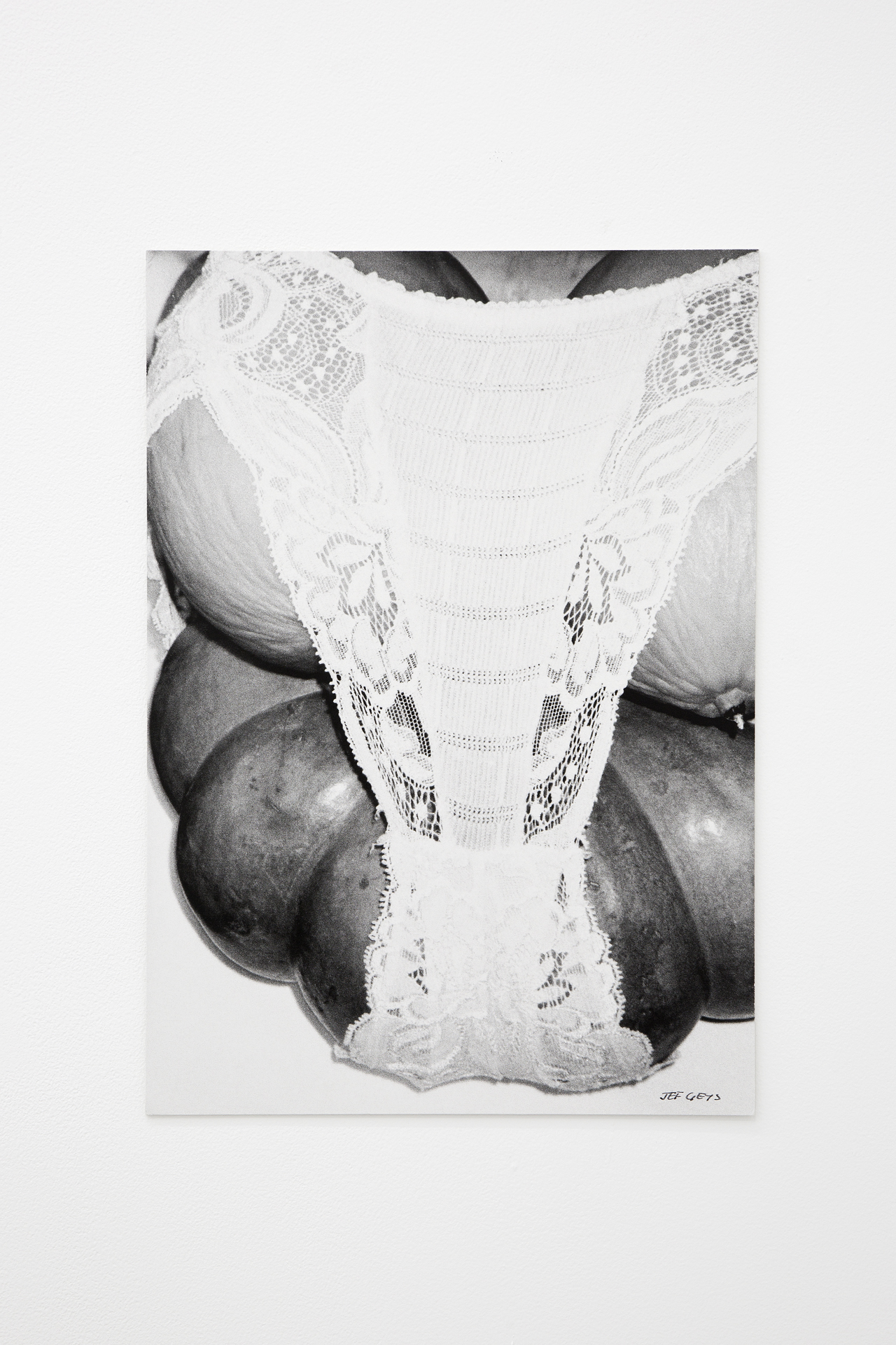 Jef Geys, Fruitlingerie, 1985. Black and White Print, A3 size.